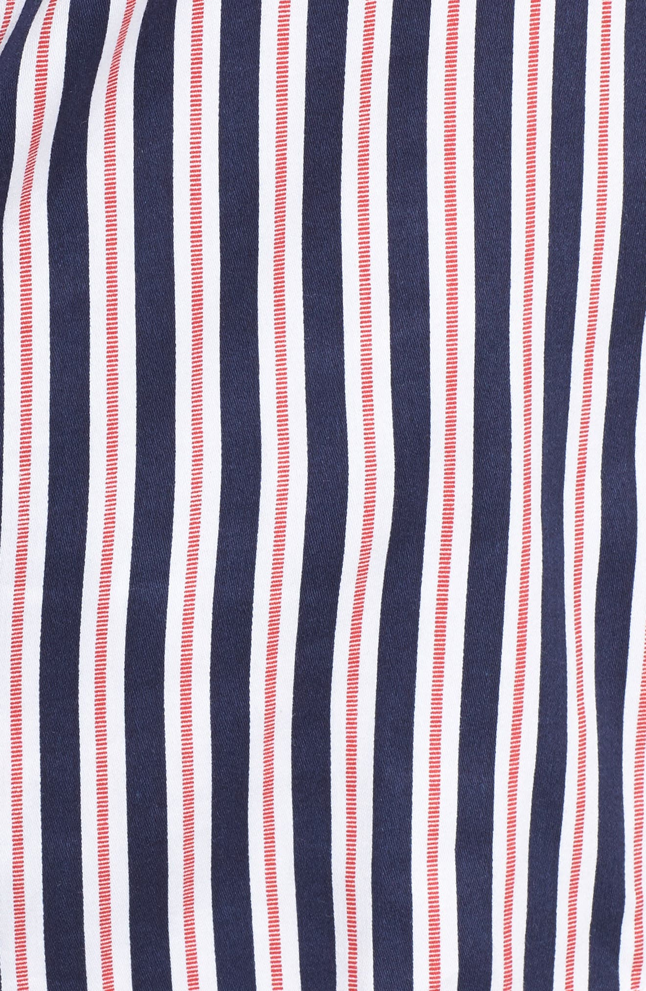 Sateen Pajamas,                             Alternate thumbnail 6, color,                             Navy Stripe