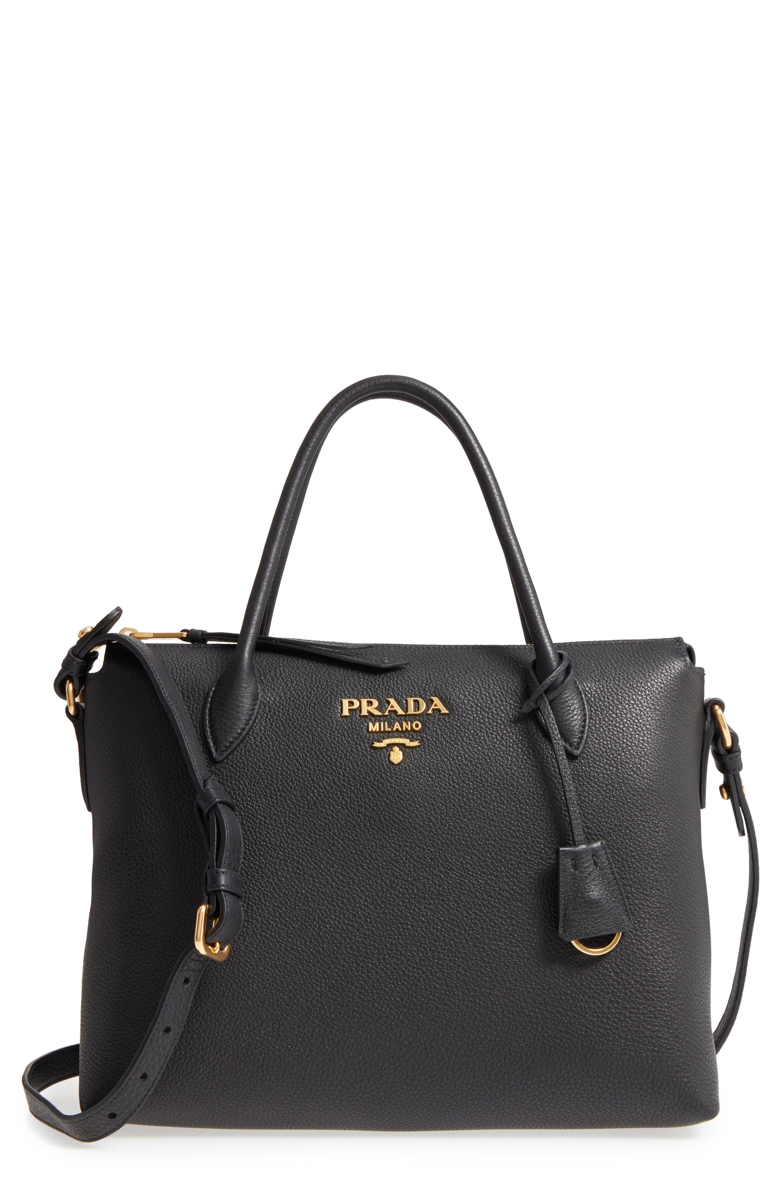 Prada Daino Leather Shoulder Bag