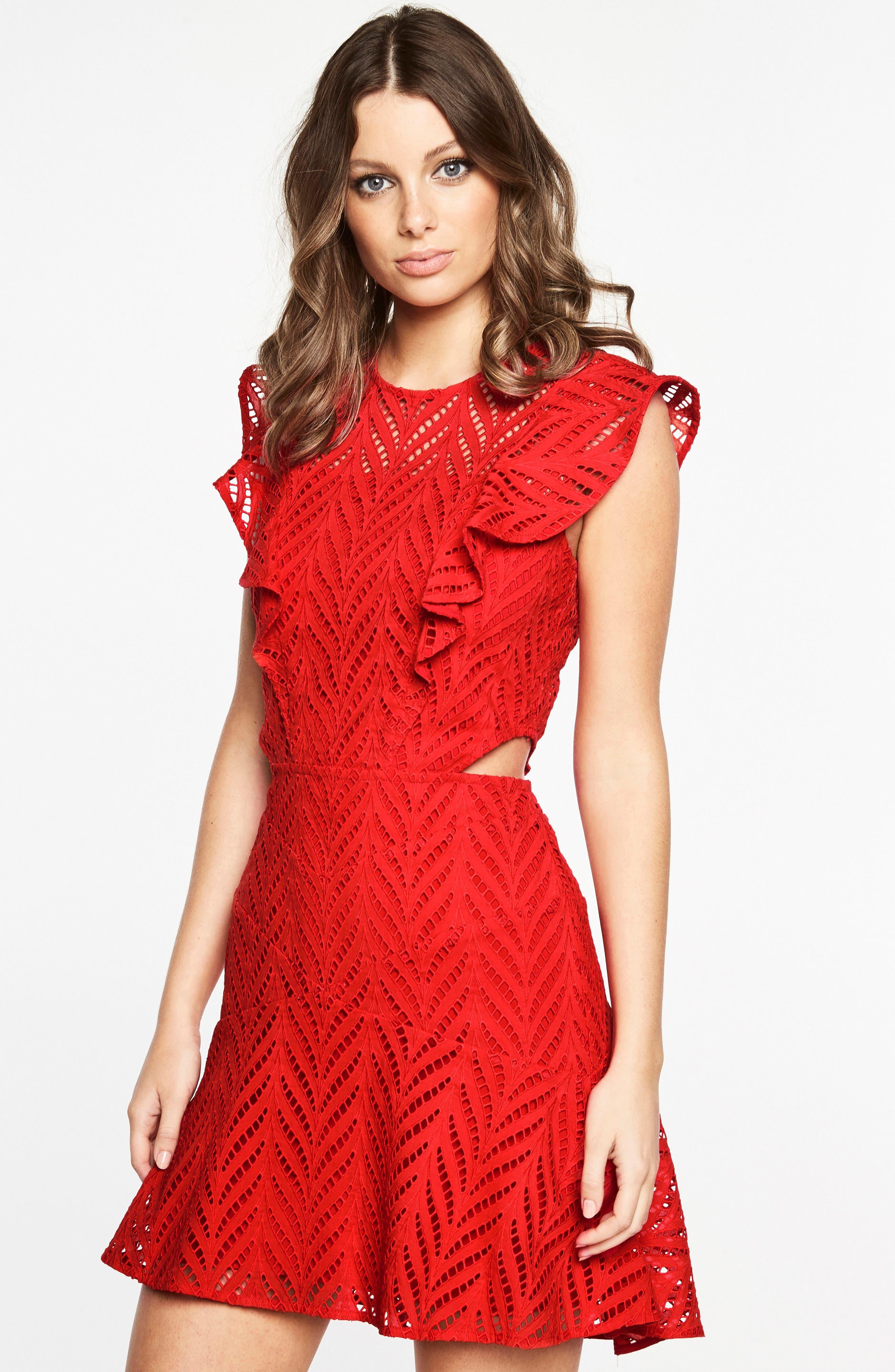 Alternate Image 4  - Bardot Kira Crochet Ruffle Dress