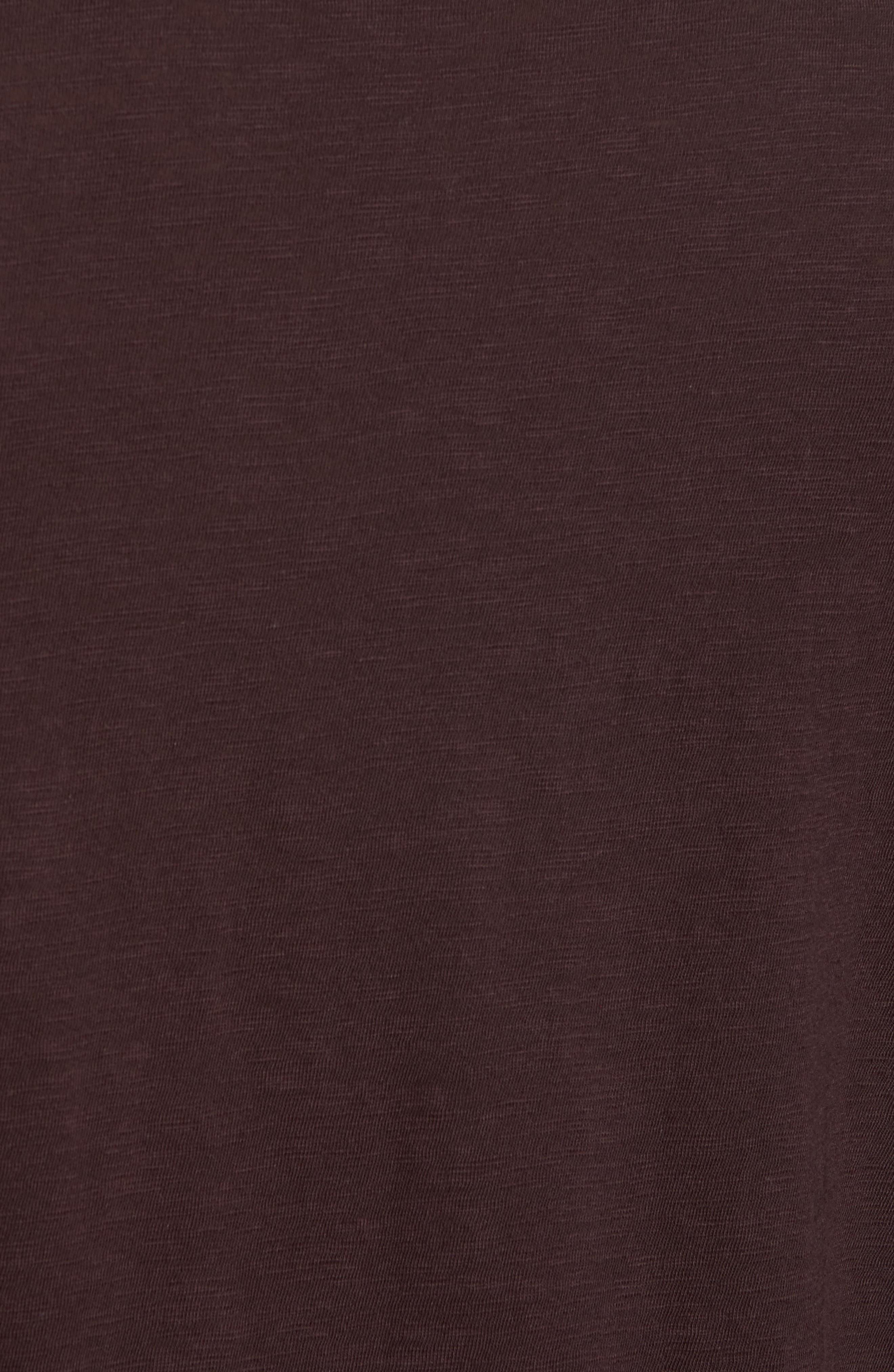 Long Sleeve Slub Henley,                             Alternate thumbnail 5, color,                             Zinfandel