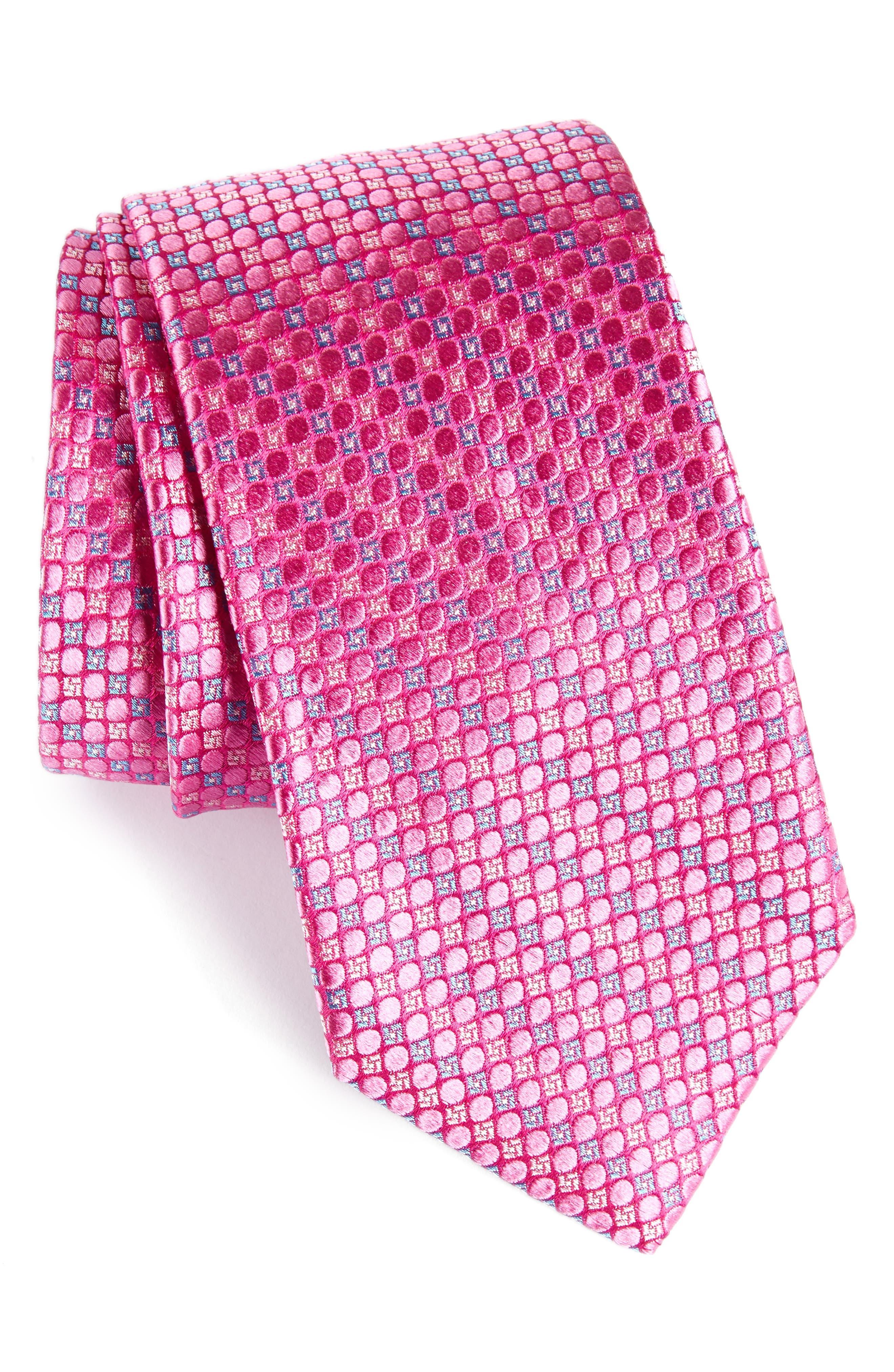 Main Image - Nordstrom Men's Shop Carter Dot Silk Tie (X-Long)