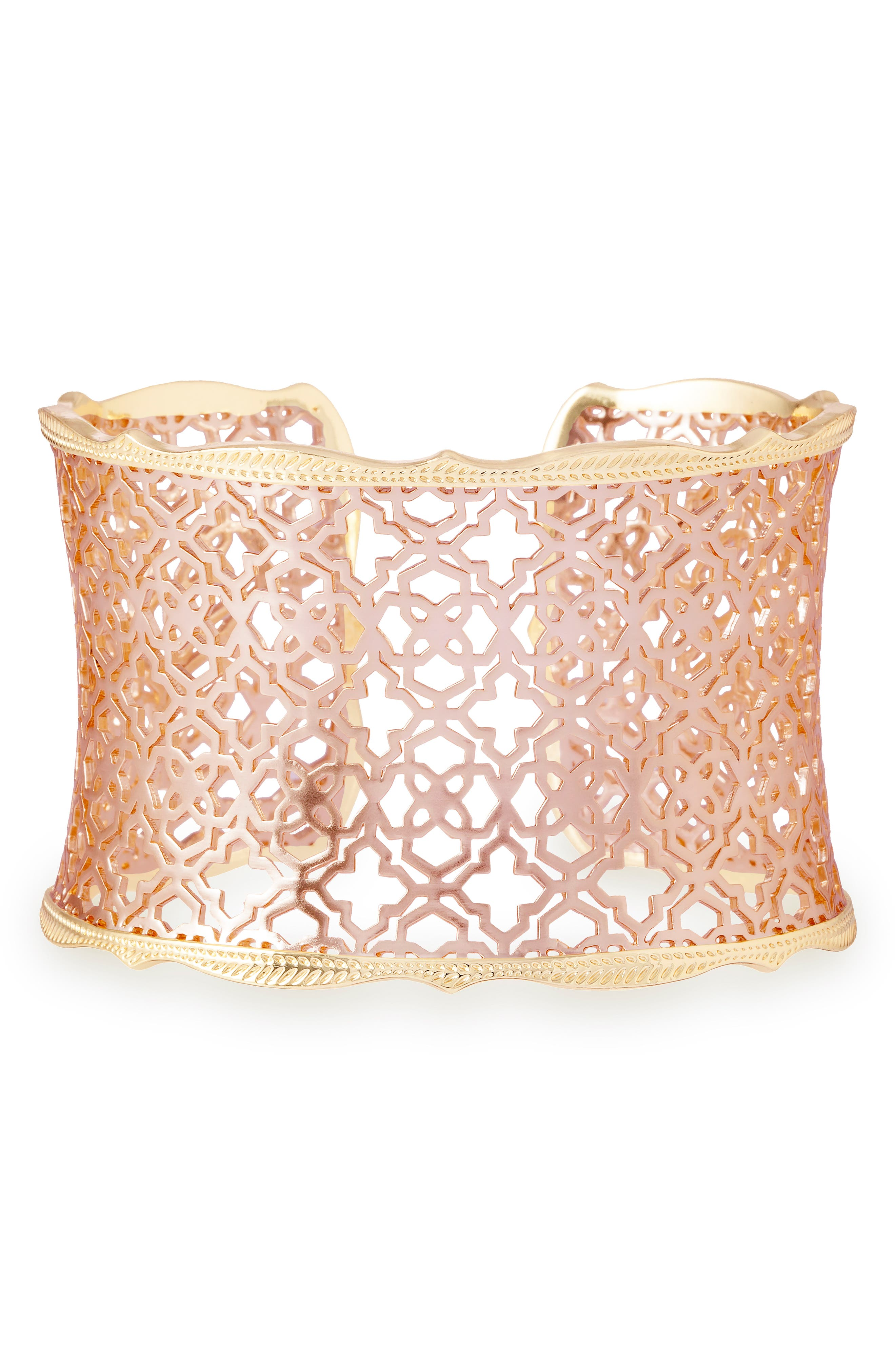 'Mystic Bazaar - Candice' Wide Cuff,                             Alternate thumbnail 4, color,                             Rose Gold/ Gold
