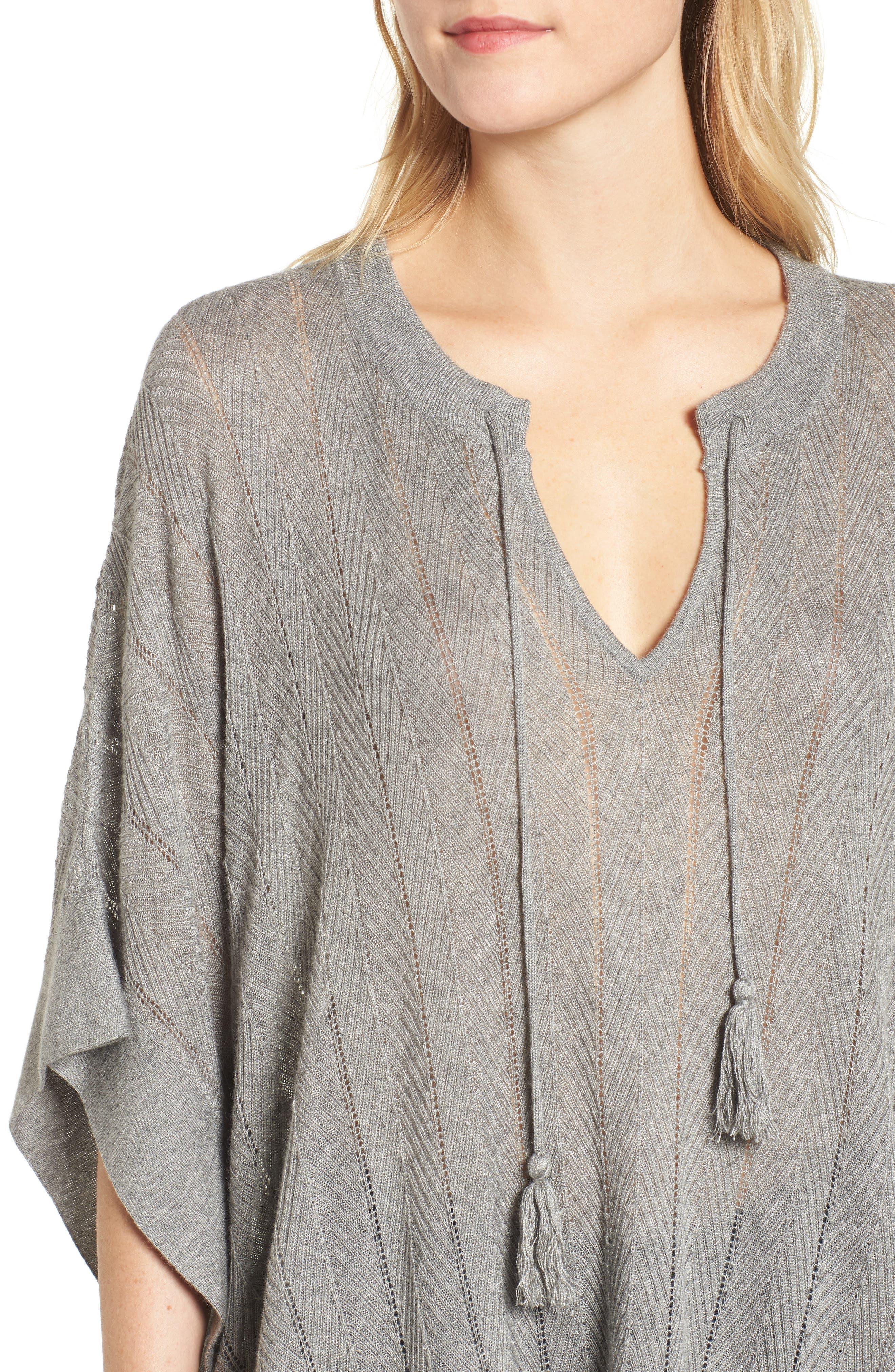 Alternate Image 4  - Splendid Pebble Poncho Sweater