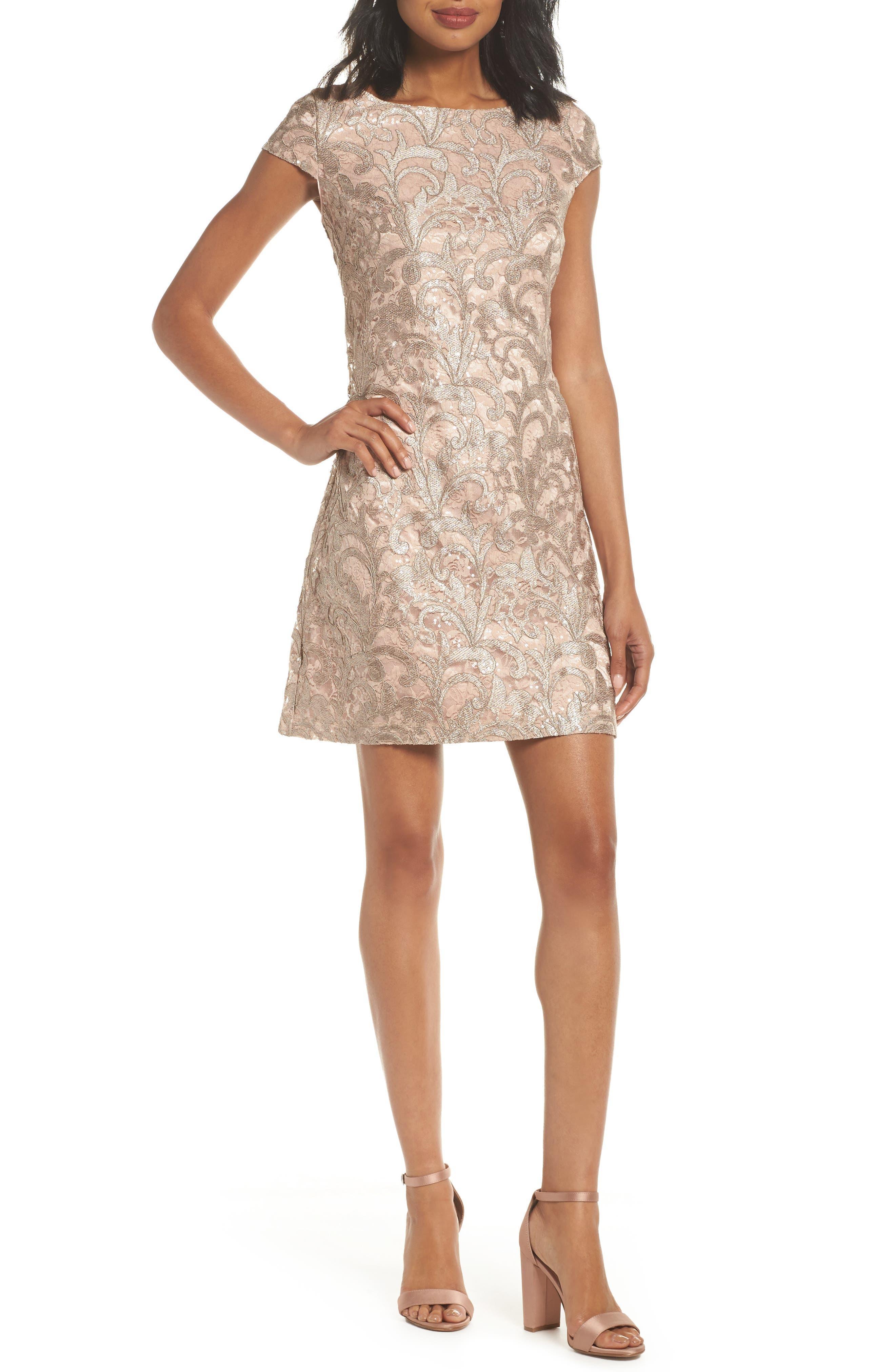 Main Image - Eliza J Lace Shift Dress