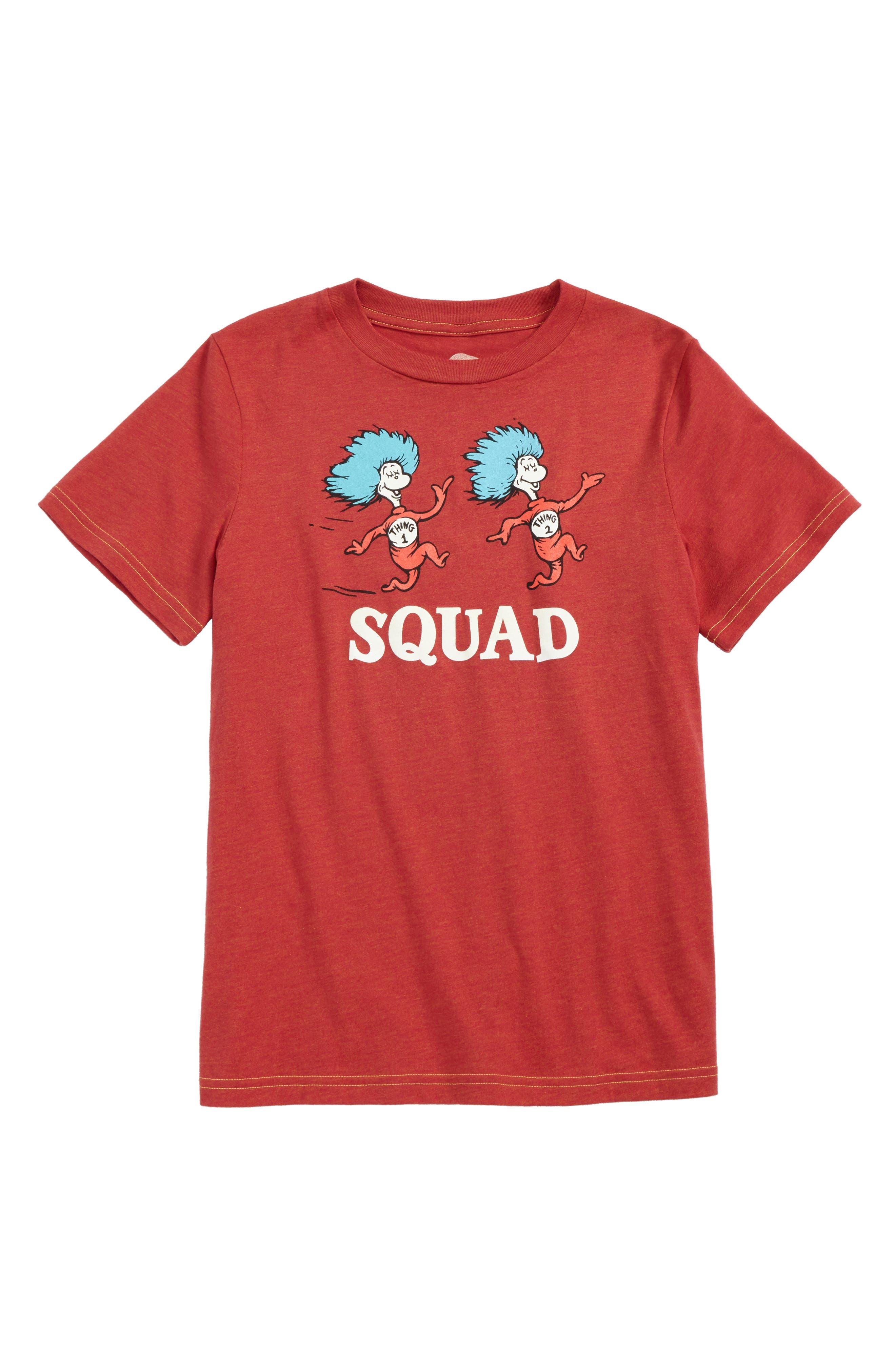 Dr. Seuss Squad Graphic T-Shirt,                             Main thumbnail 1, color,                             Red