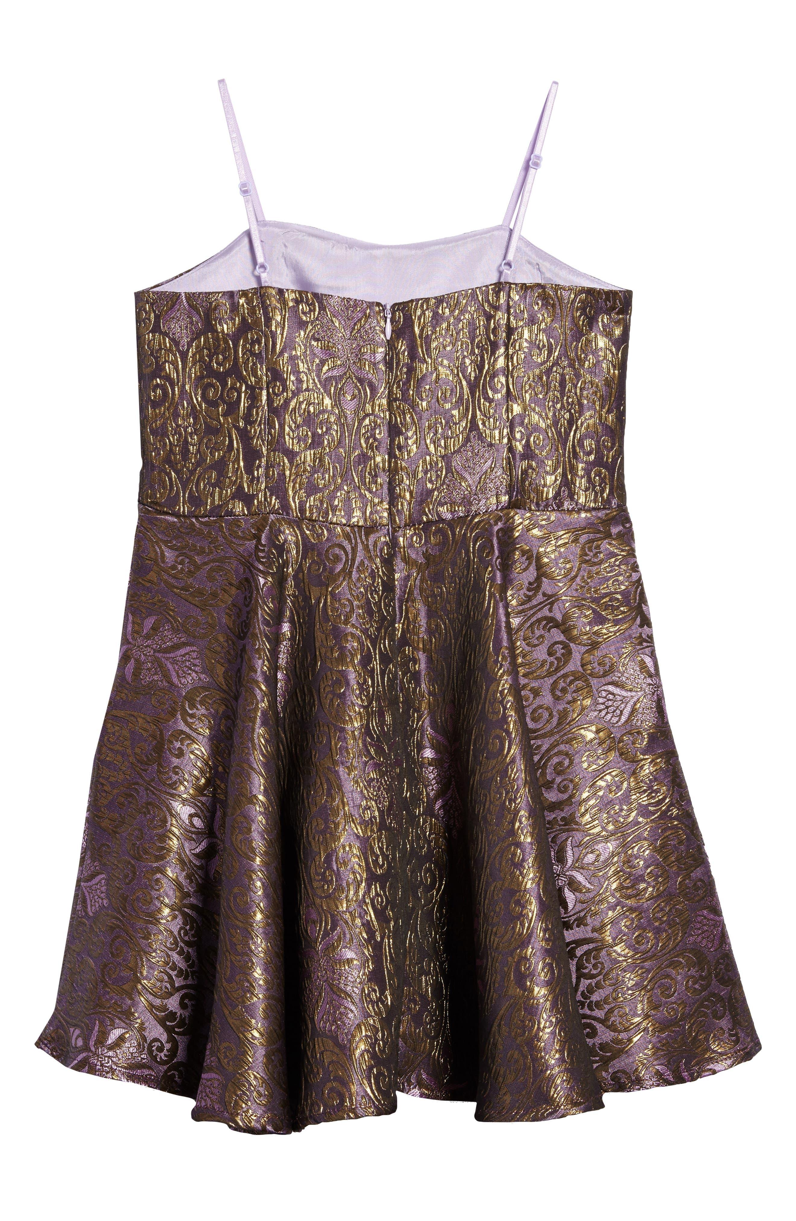 Alternate Image 2  - Un Deux Trois Jacquard Dress (Big Girls)