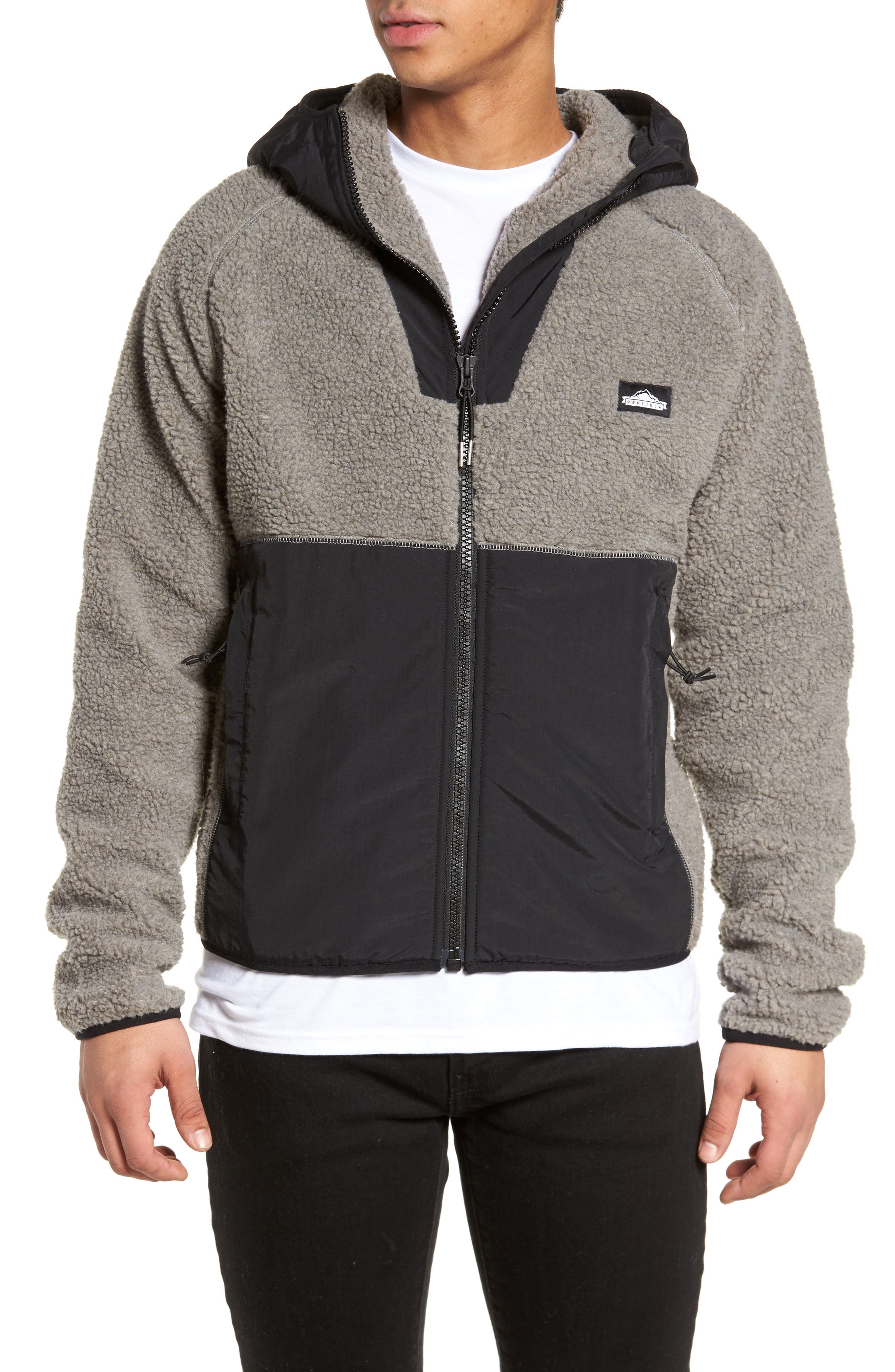 Vaughn Hooded Fleece Jacket,                             Main thumbnail 1, color,                             Grey