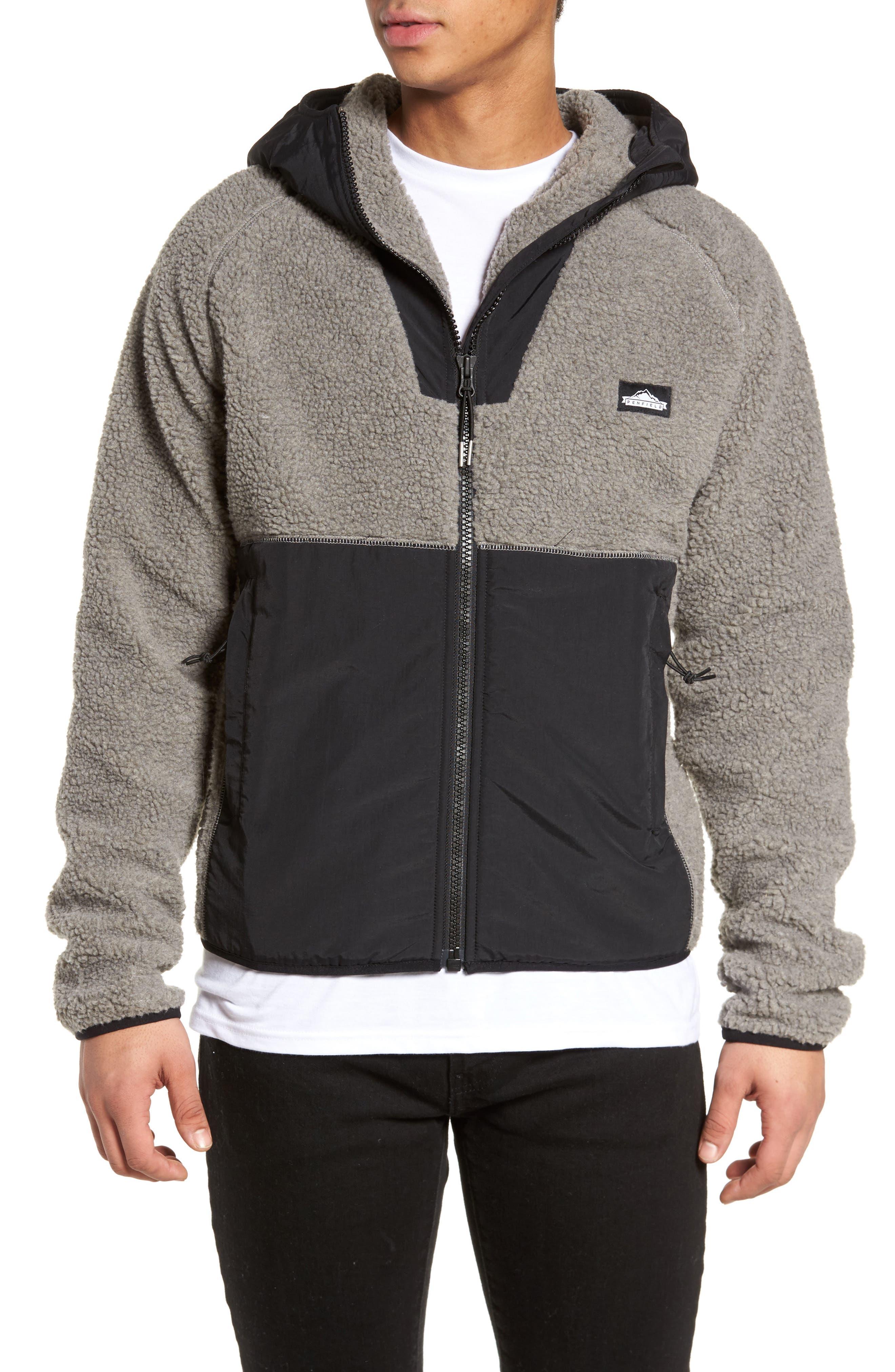 Vaughn Hooded Fleece Jacket,                         Main,                         color, Grey
