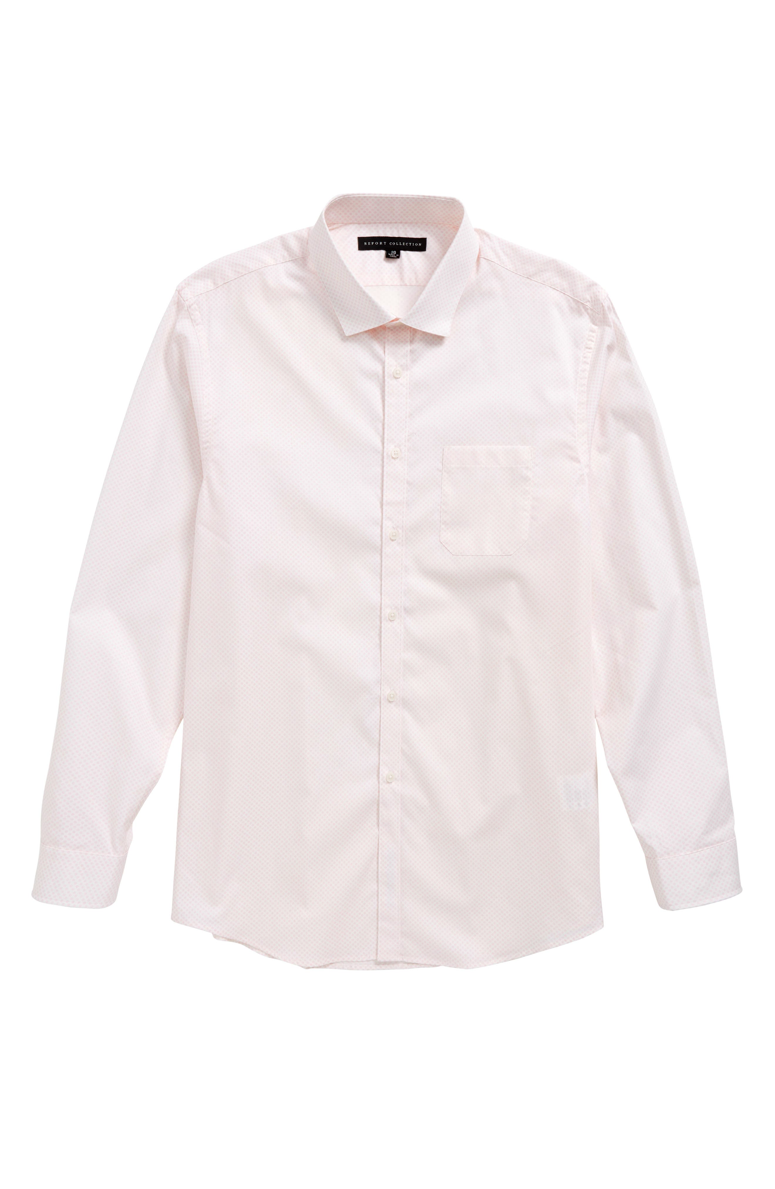 Main Image - Report Collection Dot Print Dress Shirt (Big Boys)