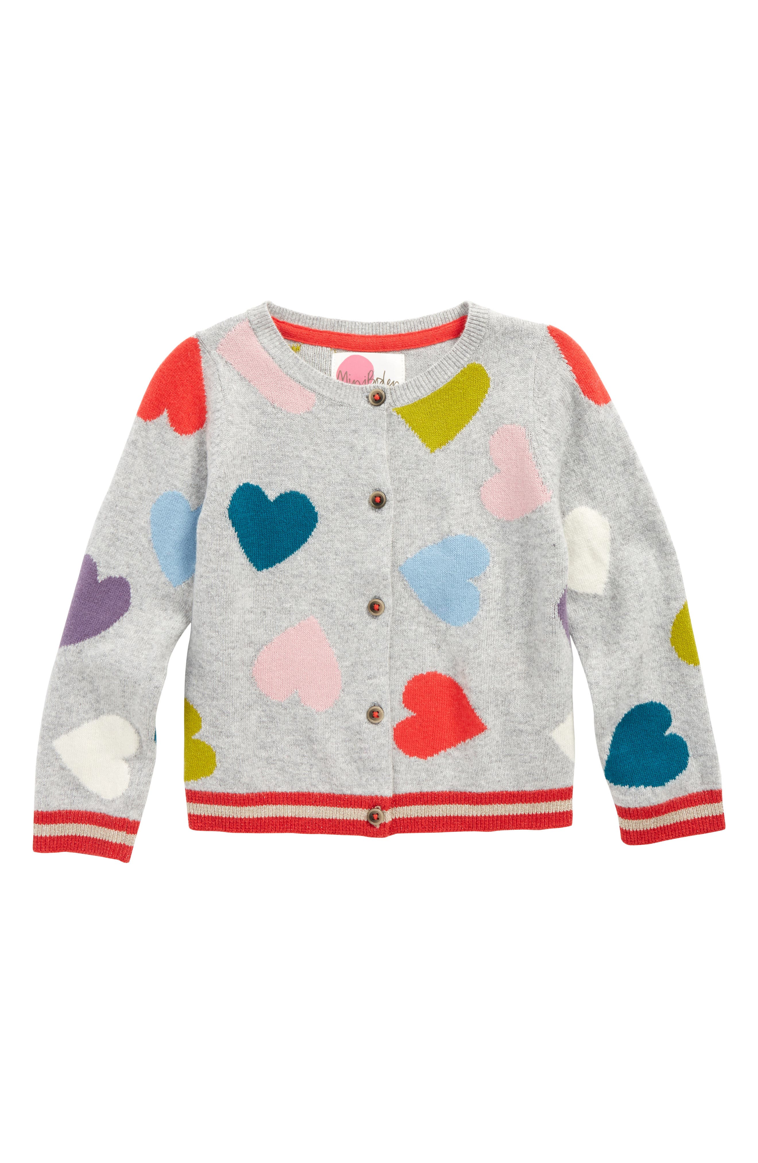 Mini Boden Heart Cardigan (Toddler Girls, Little Girls & Big Girls)