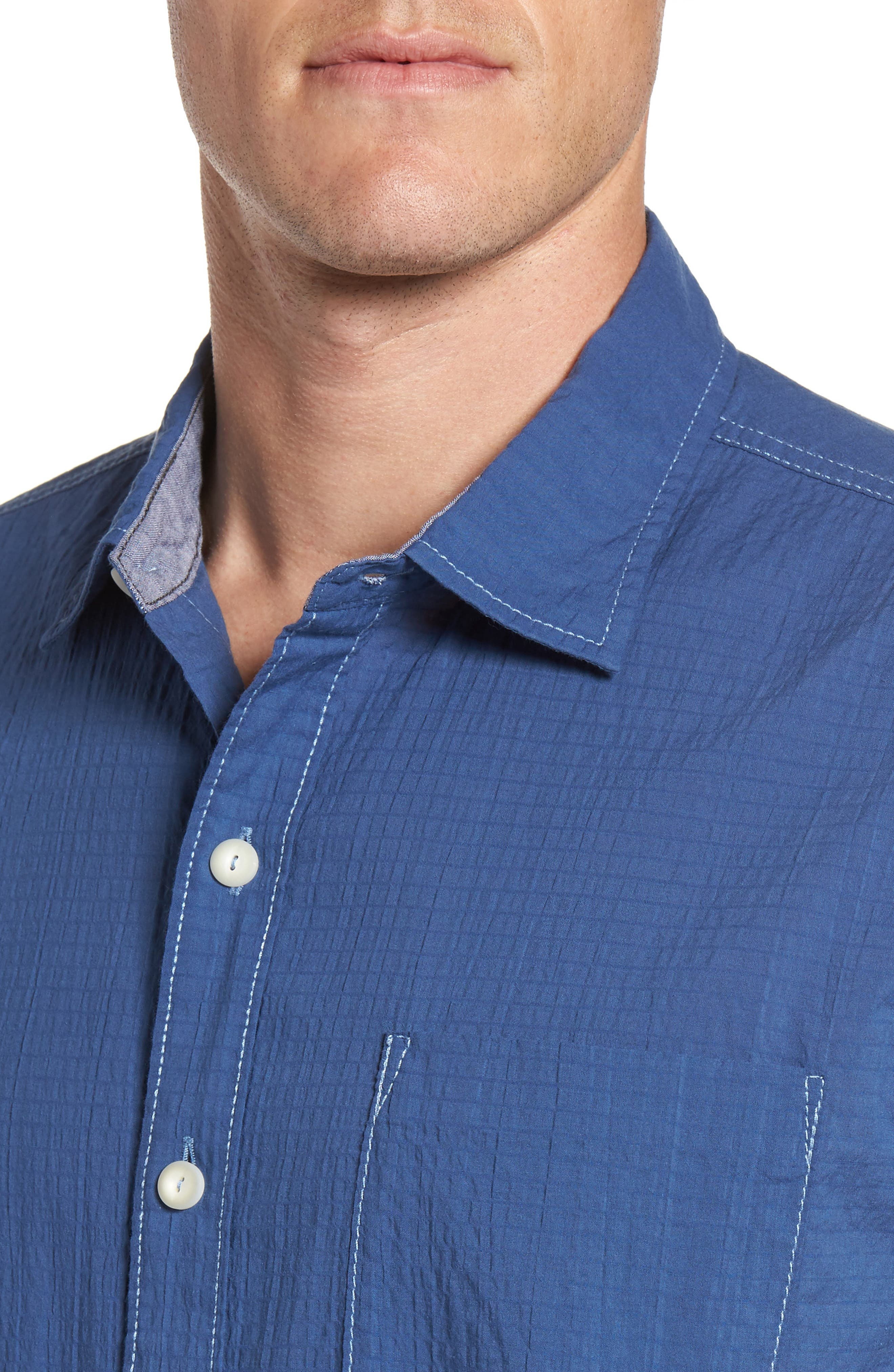 The Salvatore Sport Shirt,                             Alternate thumbnail 4, color,                             Dockside Blue