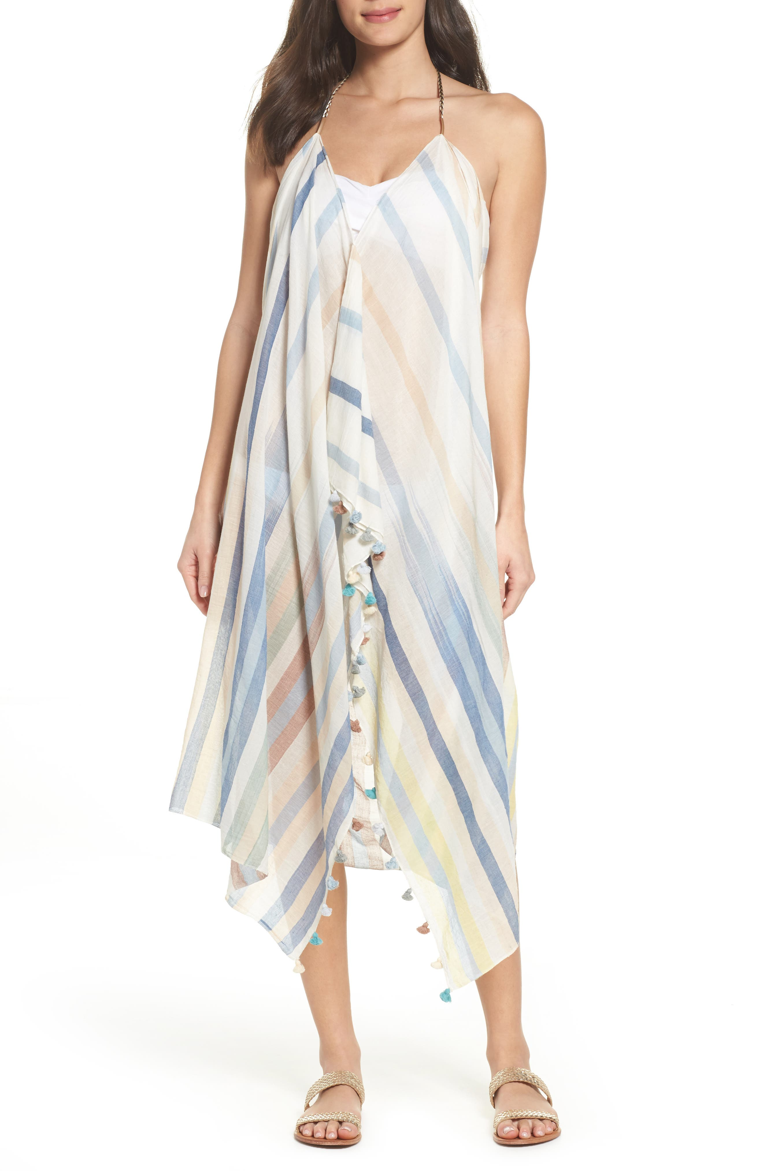 Pool Party Beach to Street Cover-Up Dress,                         Main,                         color, Ocean