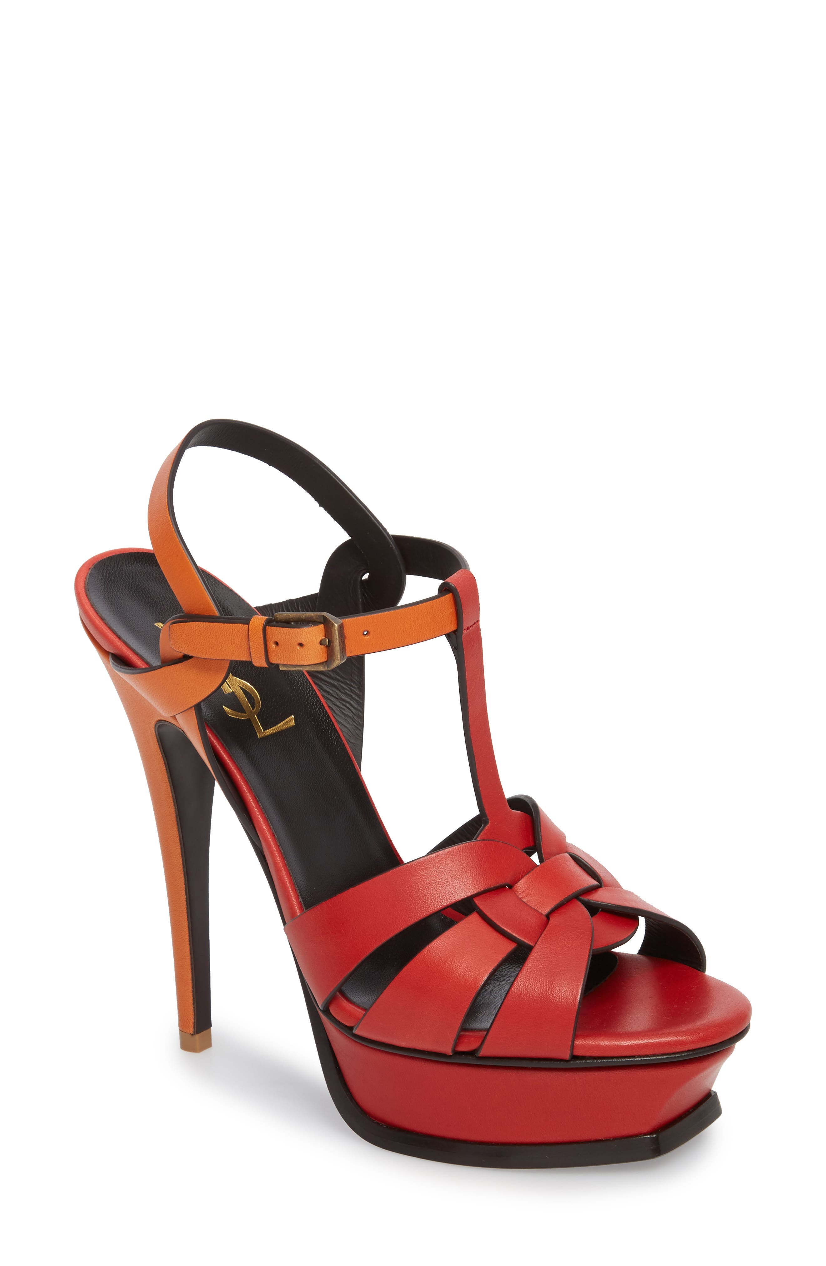 Alternate Image 1 Selected - Saint Laurent Tribute T-Strap Platform Sandal (Women)