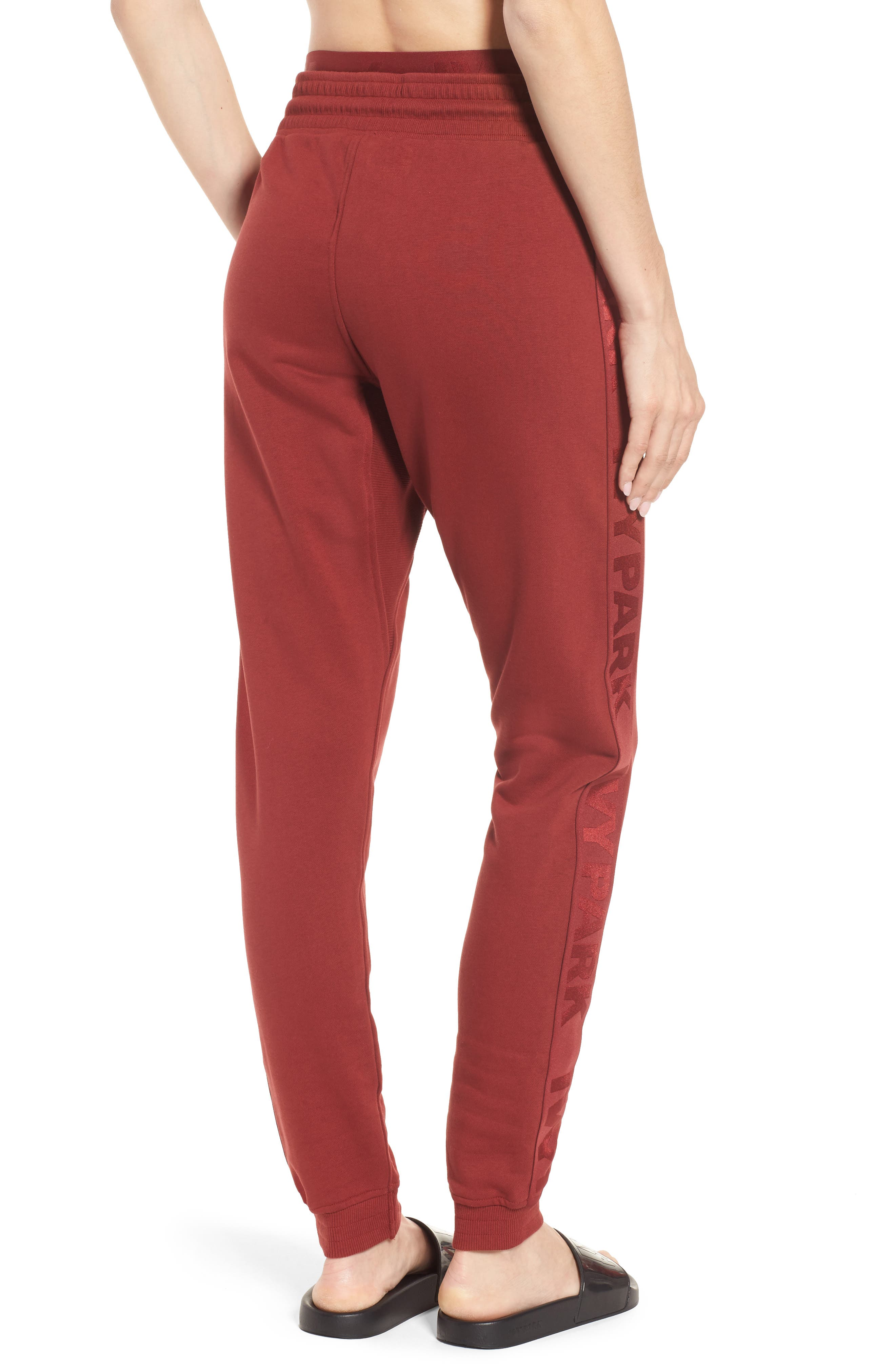 Logo Elastic Jogger Pants,                             Alternate thumbnail 2, color,                             Russet