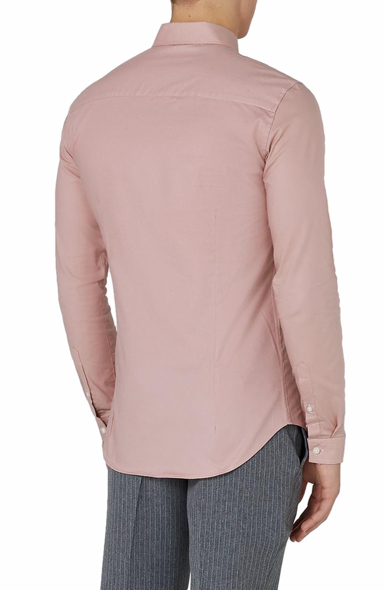 Muscle Fit Oxford Shirt,                             Alternate thumbnail 2, color,                             Pink