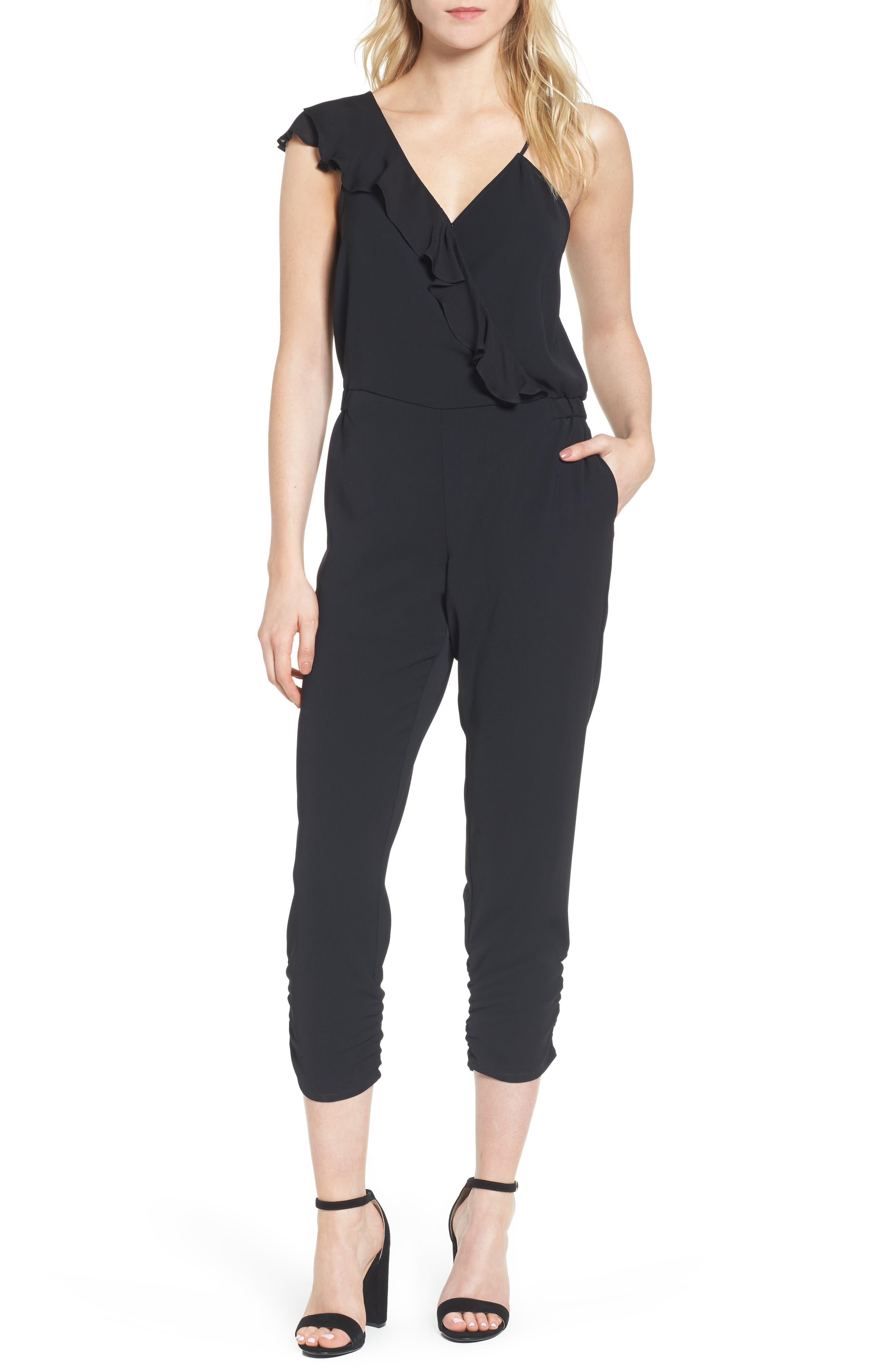 Addison Asymmetrical Jumpsuit,                             Main thumbnail 1, color,                             Black