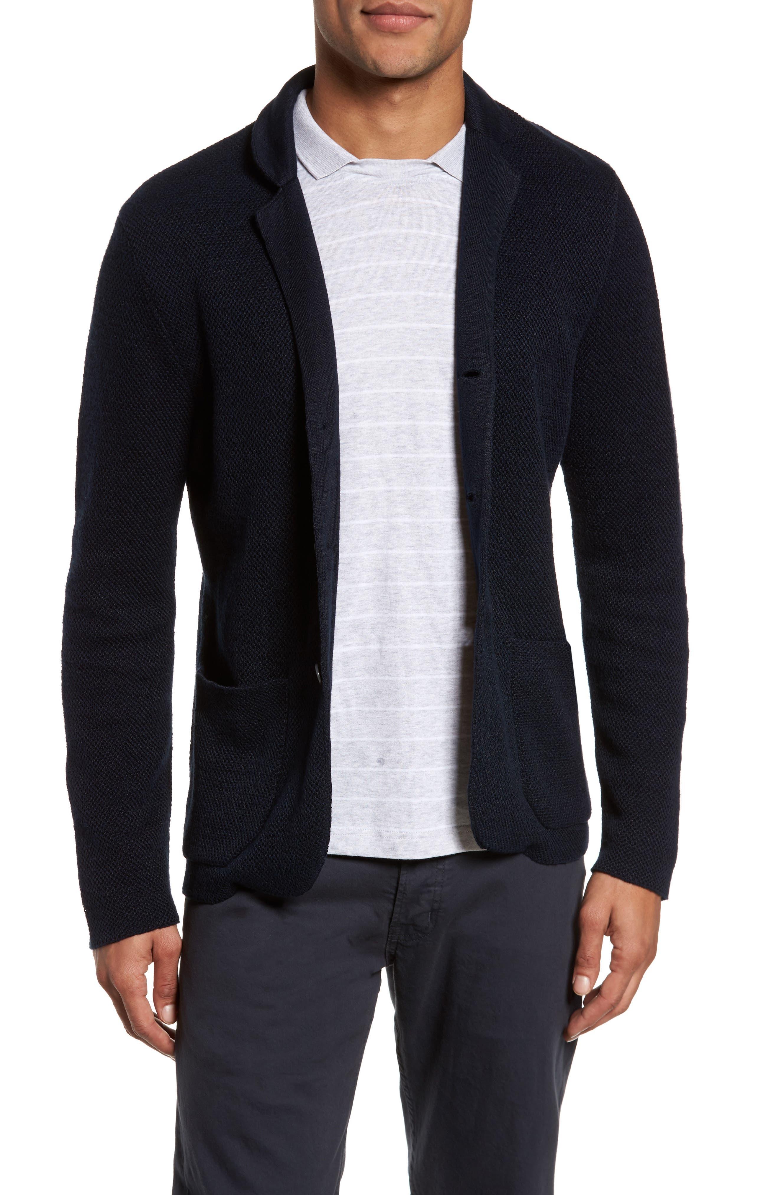 Main Image - Eleventy Linen & Cotton Cardigan