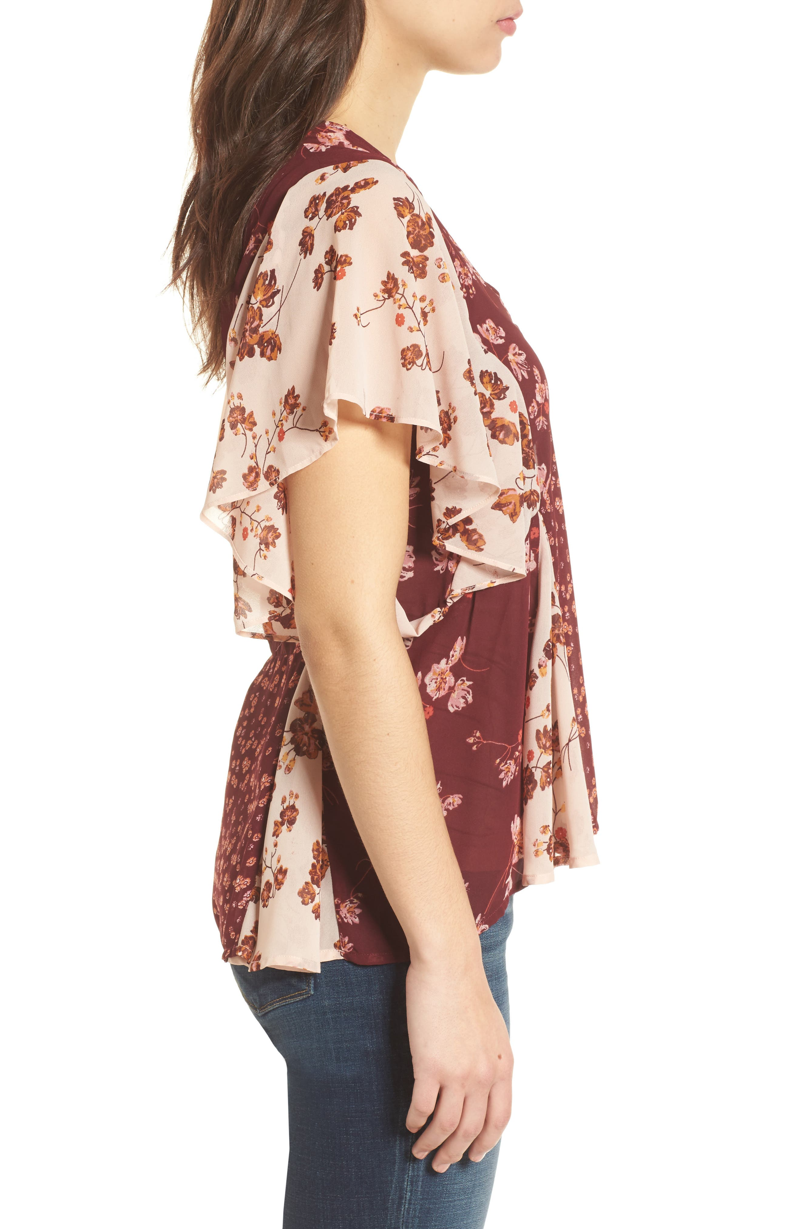 Alternate Image 3  - Lucky Brand Mixed Floral PrintTop