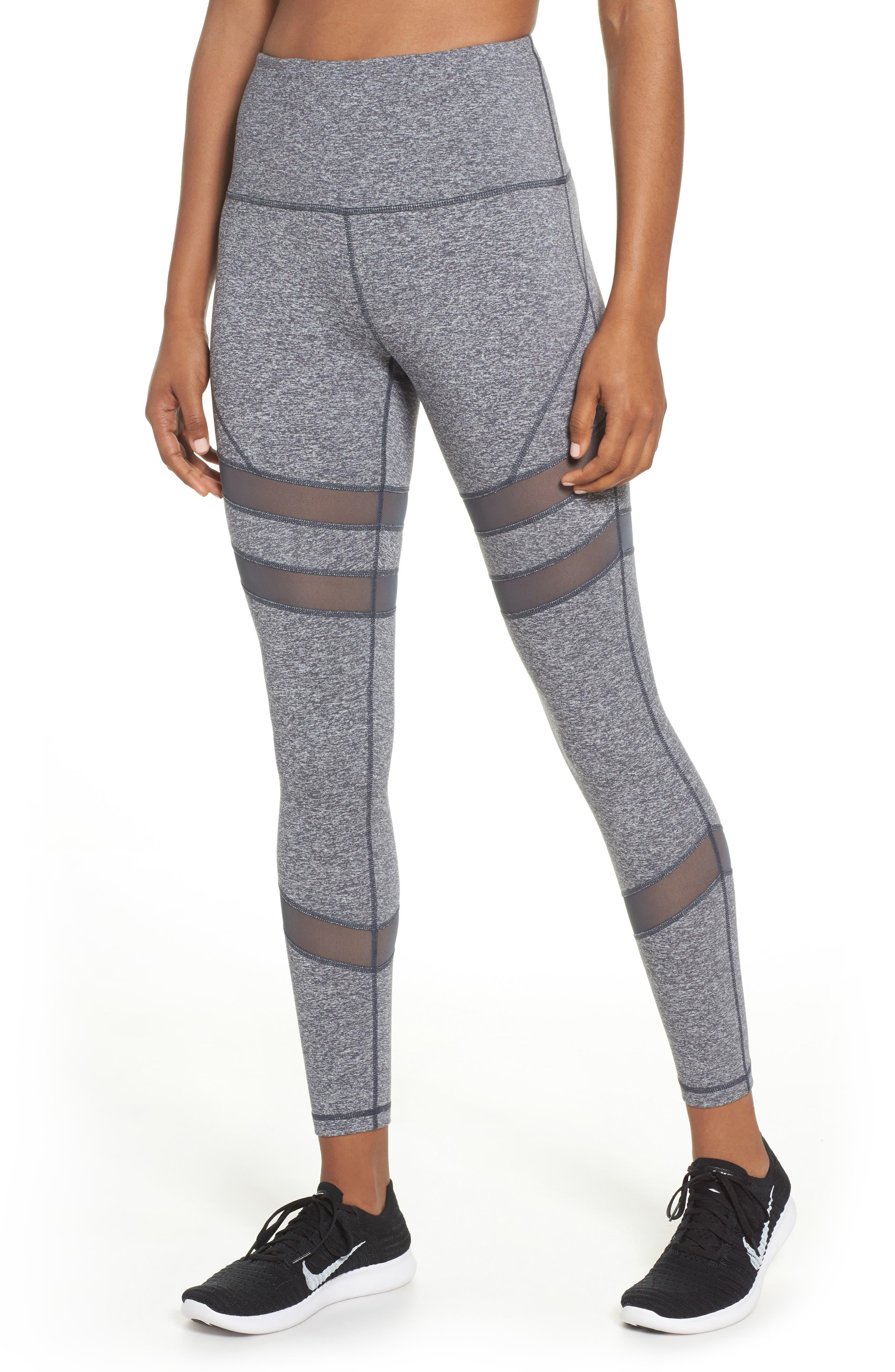 Good Sport High Waist Midi Leggings,                         Main,                         color, Grey Graphite Melange