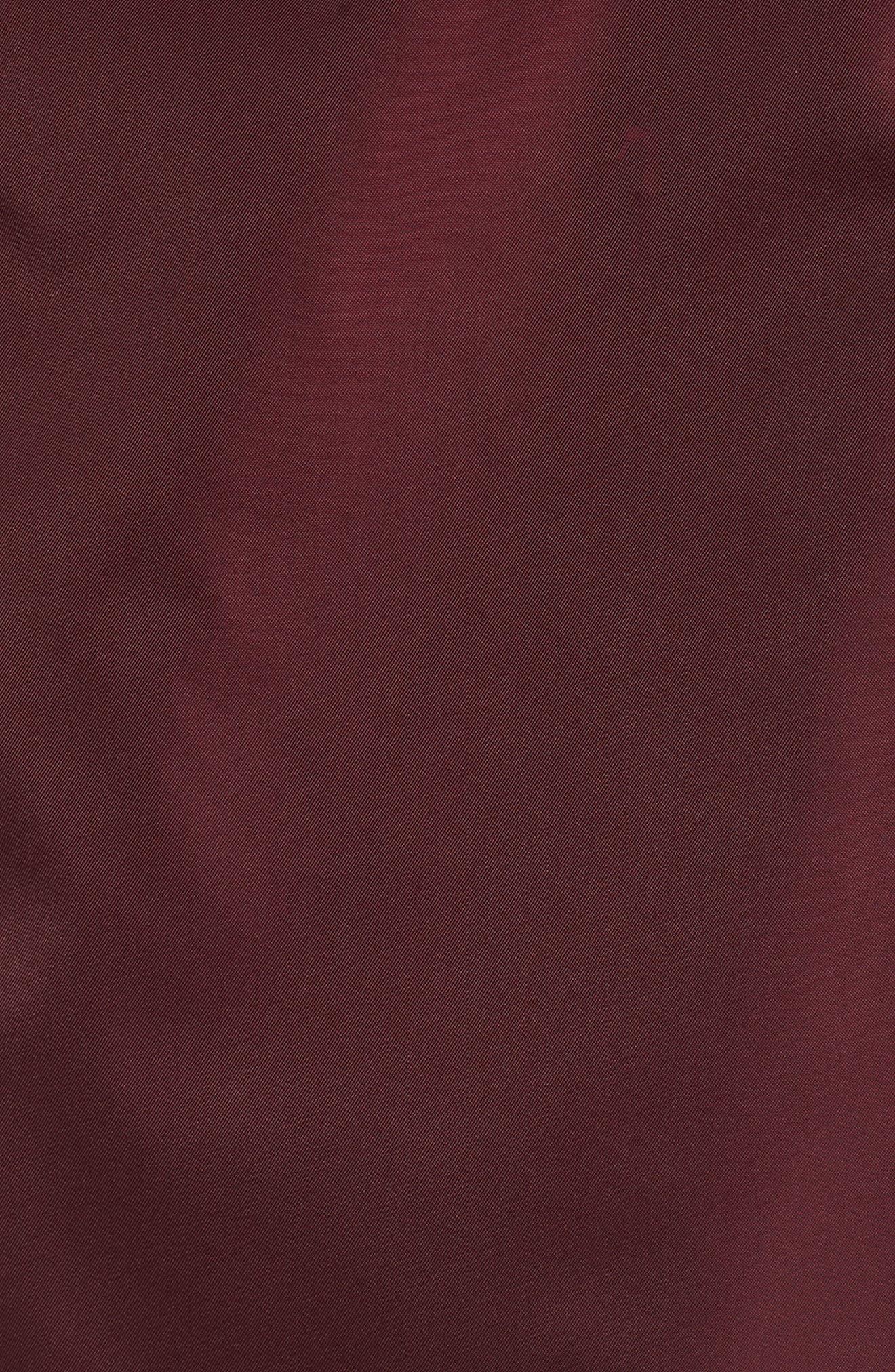Techno Short Trench Coat,                             Alternate thumbnail 5, color,                             Burgundy