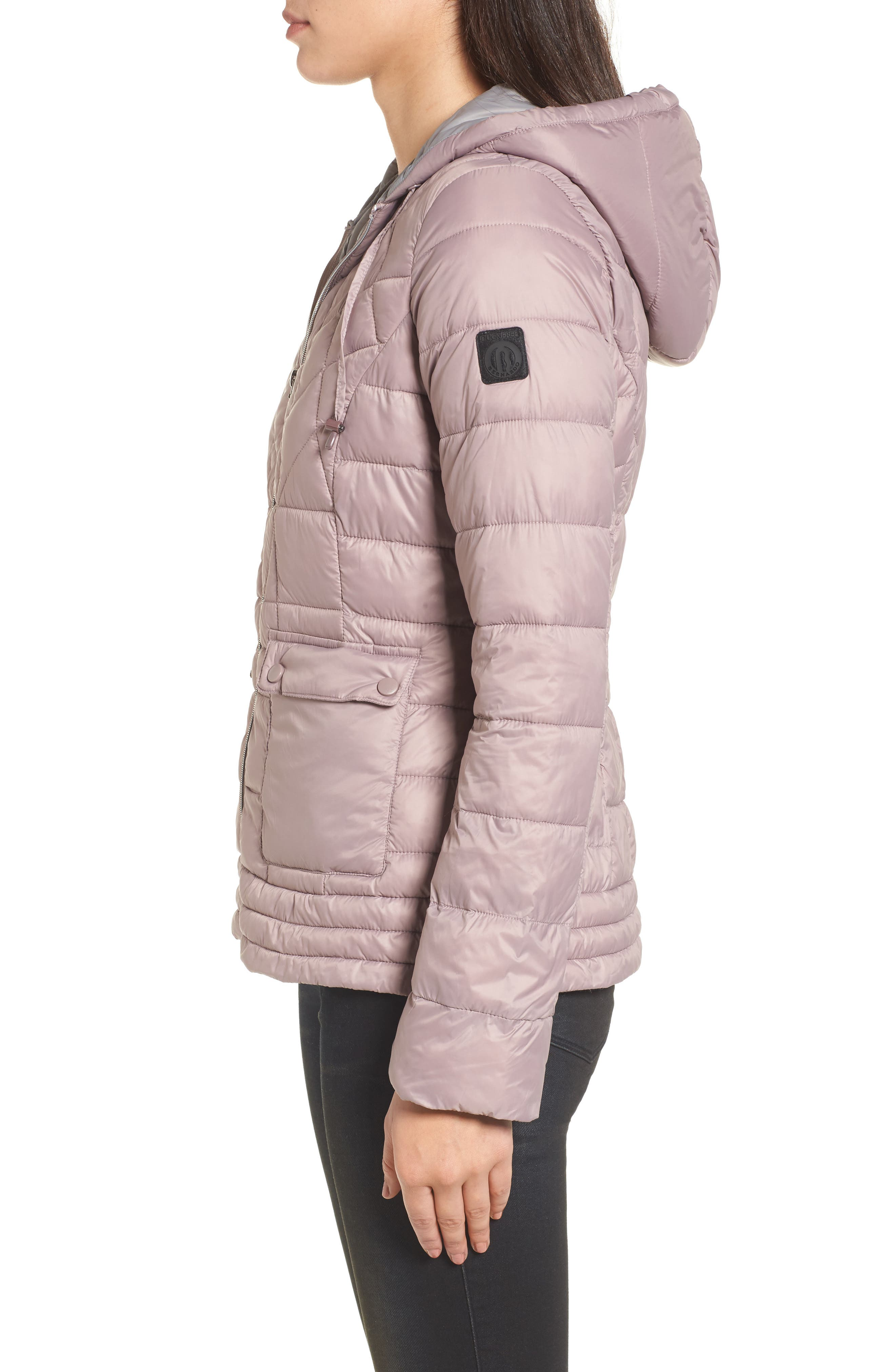 Water-Resistant PrimaLoft<sup>®</sup> Insulated Jacket,                             Alternate thumbnail 3, color,                             Rosa