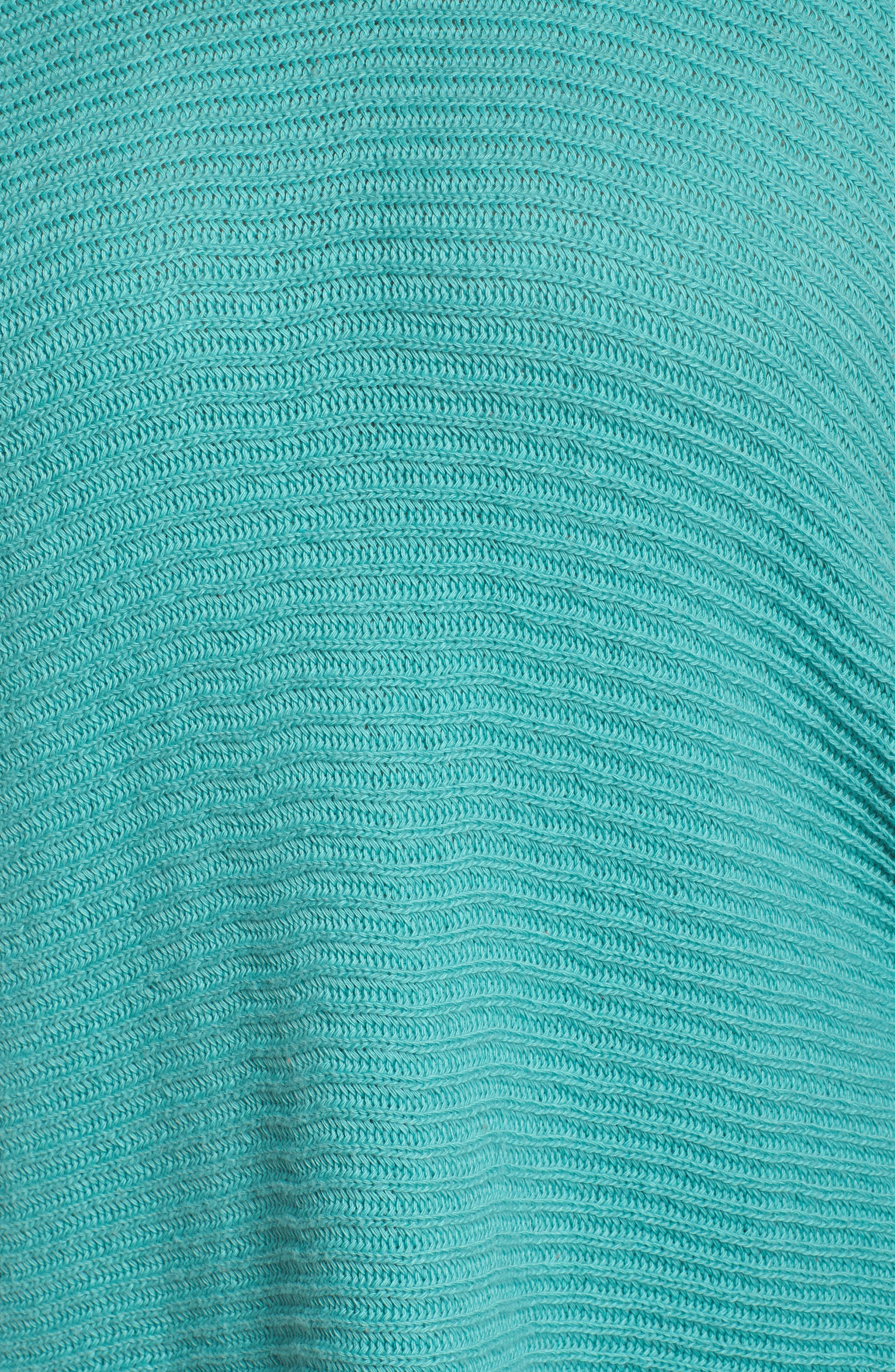 Lace-Up Sleeve Sweater,                             Alternate thumbnail 5, color,                             Green Agate