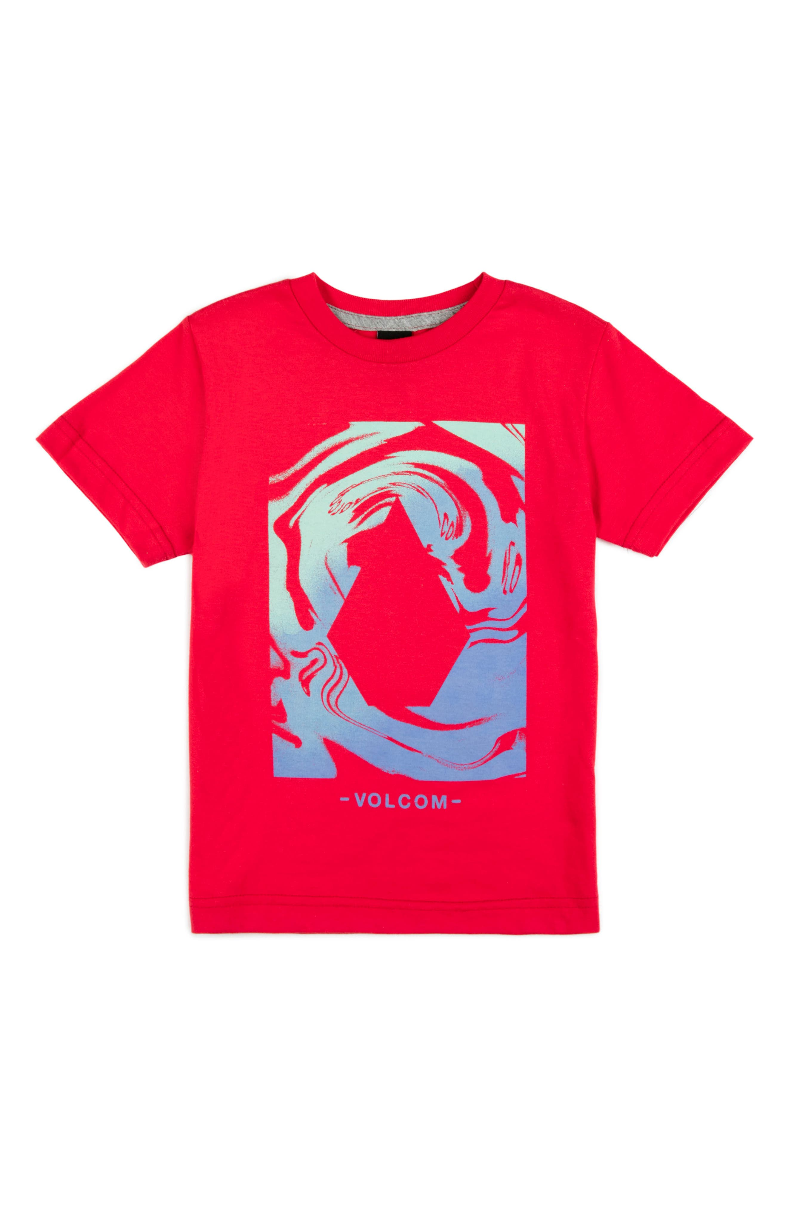Glitch Stone Graphic T-Shirt,                             Main thumbnail 1, color,                             True Red