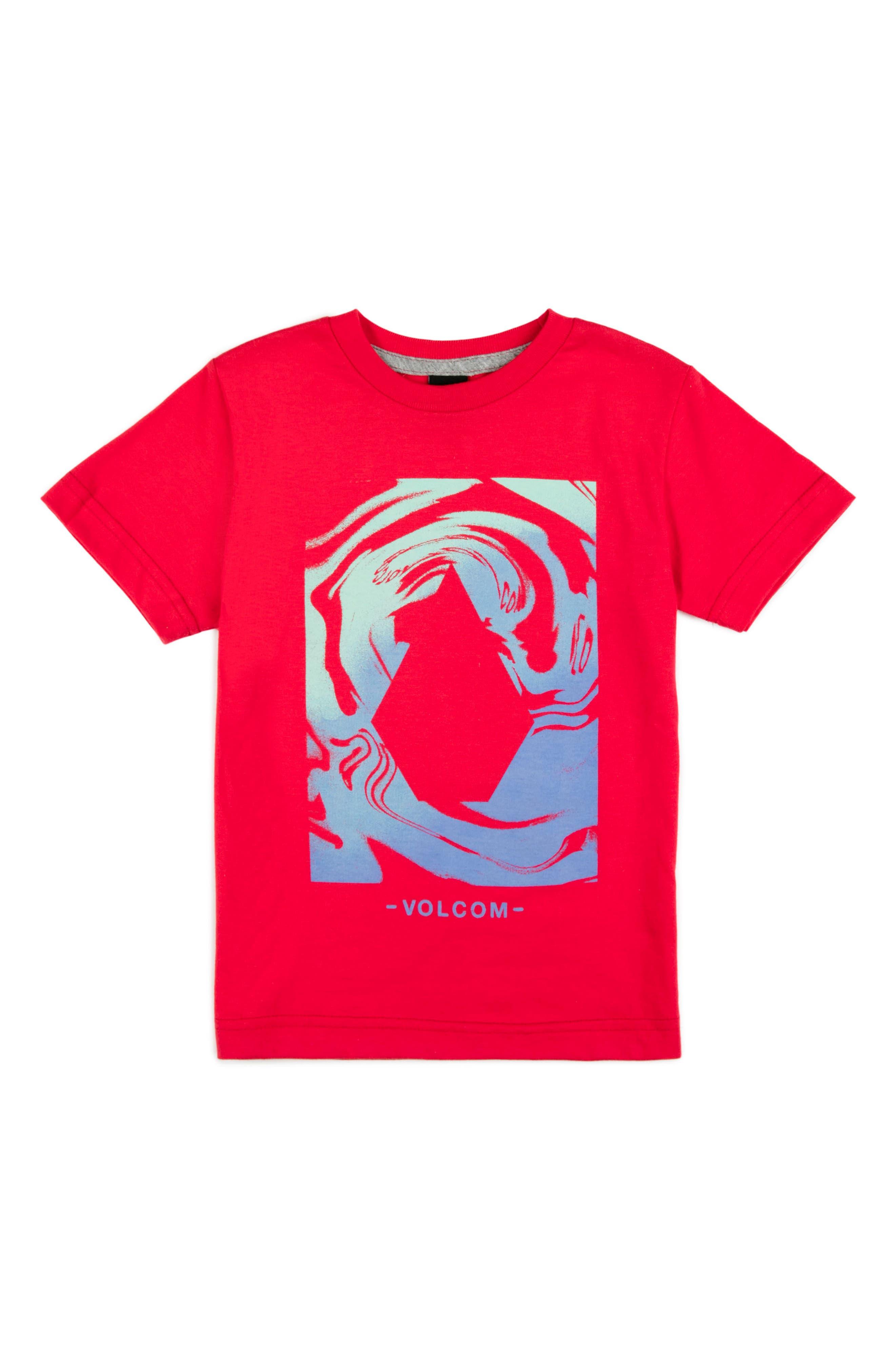 Glitch Stone Graphic T-Shirt,                         Main,                         color, True Red
