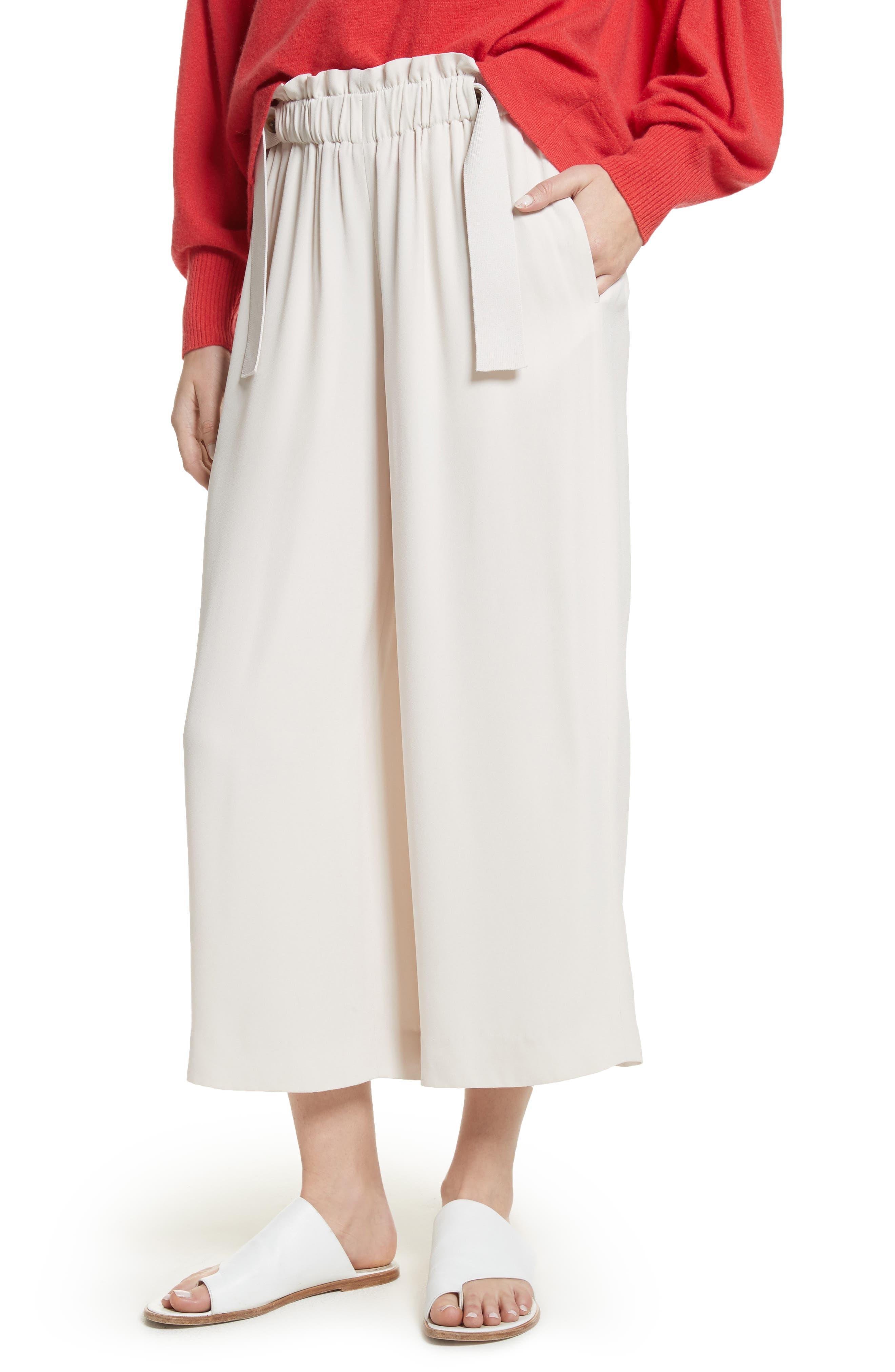 Cinched Waist Culottes,                         Main,                         color, Sandstone