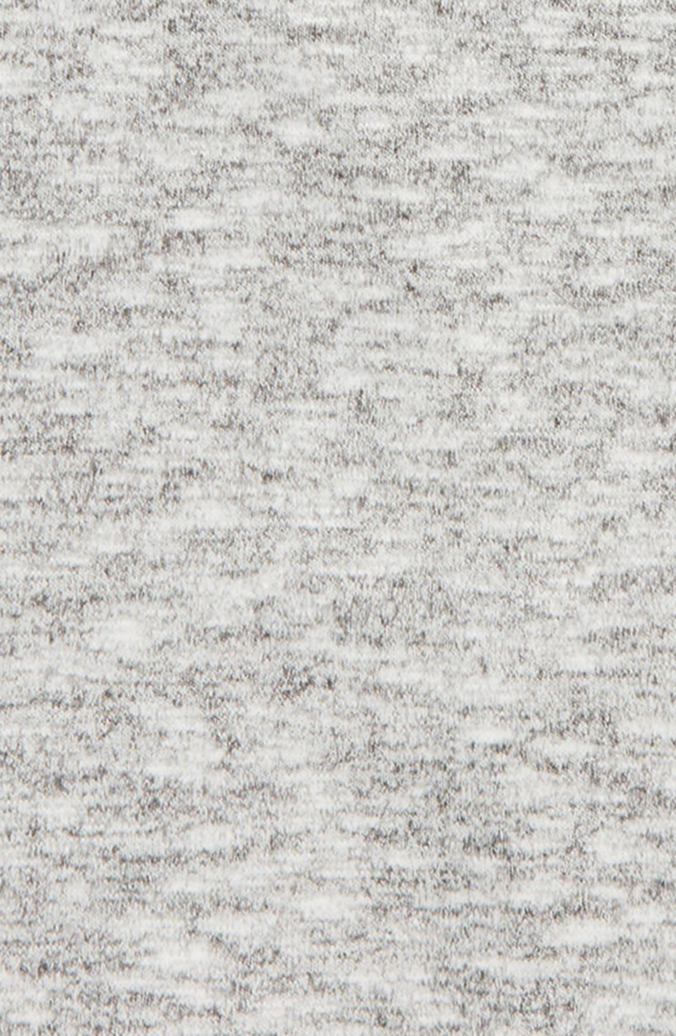 Zella Open Back Sweater,                             Alternate thumbnail 3, color,                             Black- White