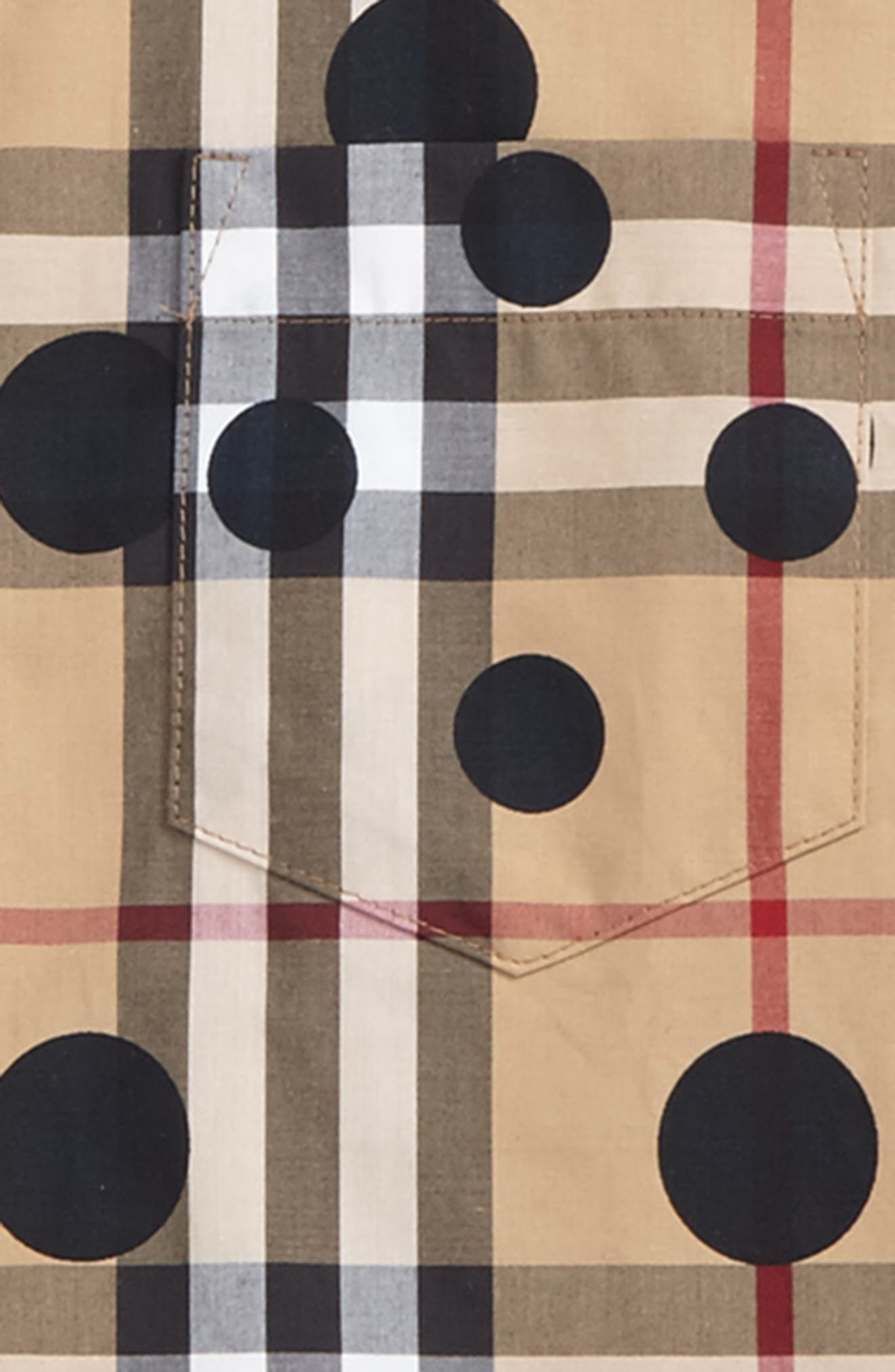 Mini Fred Polka Dot & Check Print Shirt,                             Alternate thumbnail 2, color,                             Navy