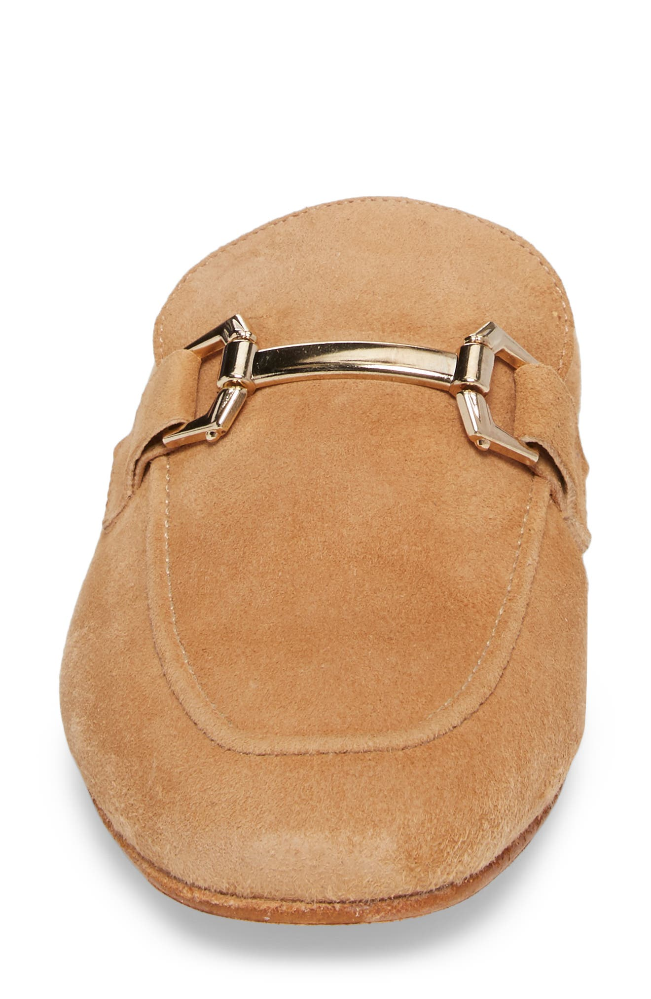 Sorrento Too Mule,                             Alternate thumbnail 4, color,                             Camel Suede