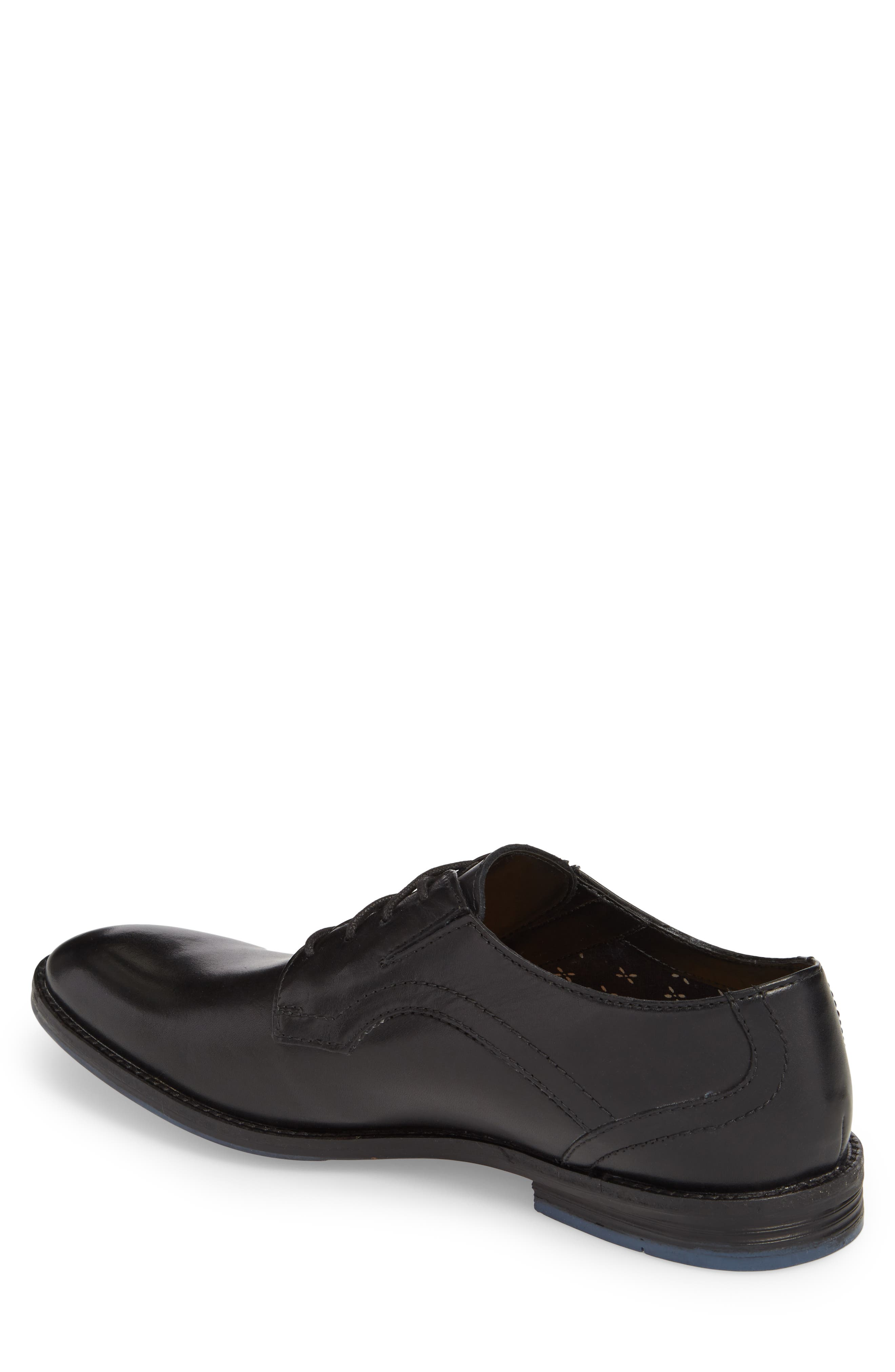 Clarks<sup>®</sup> Prangley Walk Plain Toe Derby,                             Alternate thumbnail 2, color,                             Black Leather
