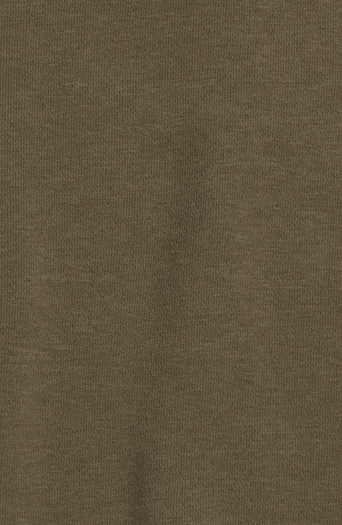 Short Sleeve Hoodie,                             Alternate thumbnail 2, color,                             Olive