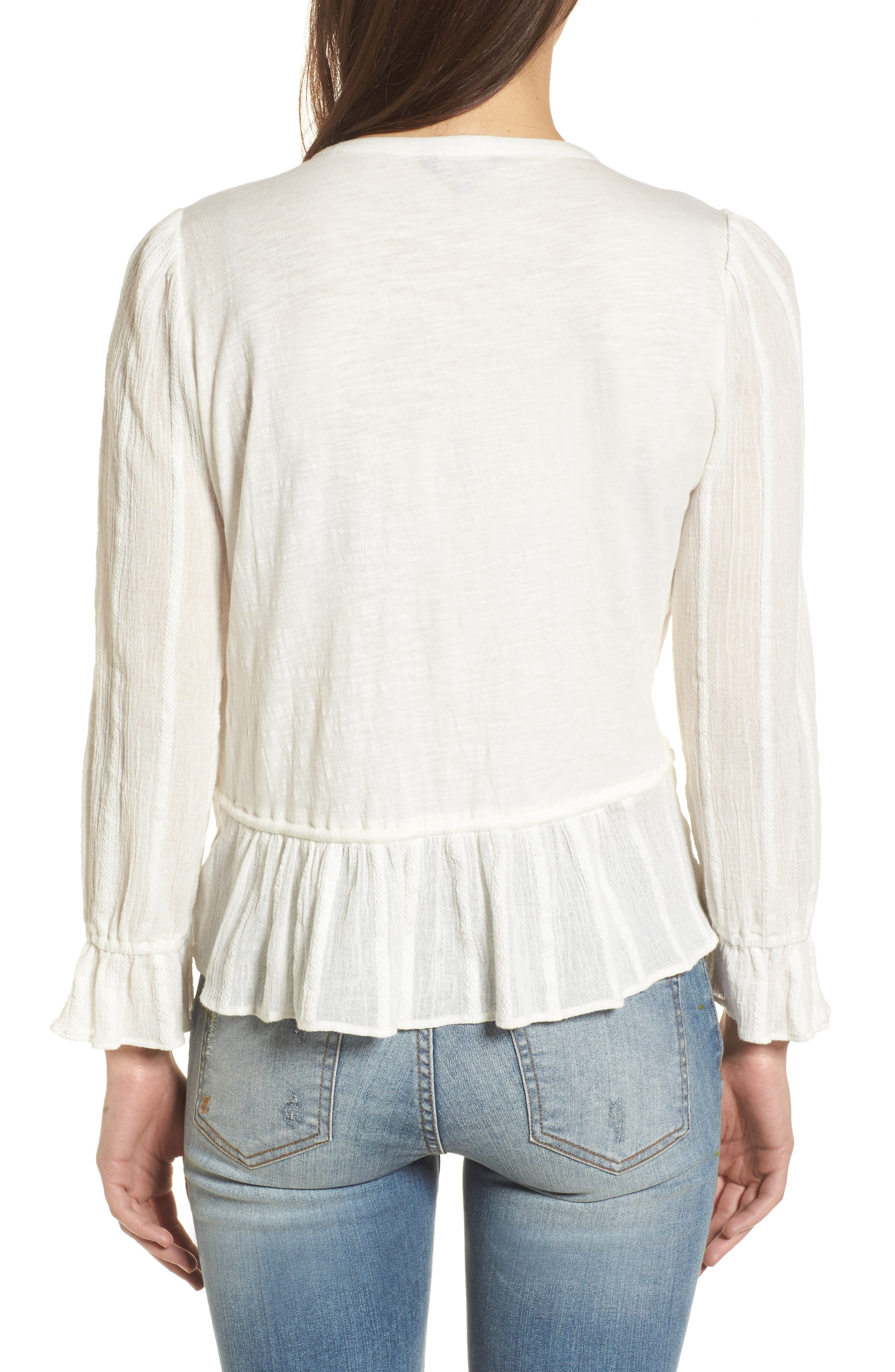 Alternate Image 2  - Lucky Brand Drawstring Peplum Top