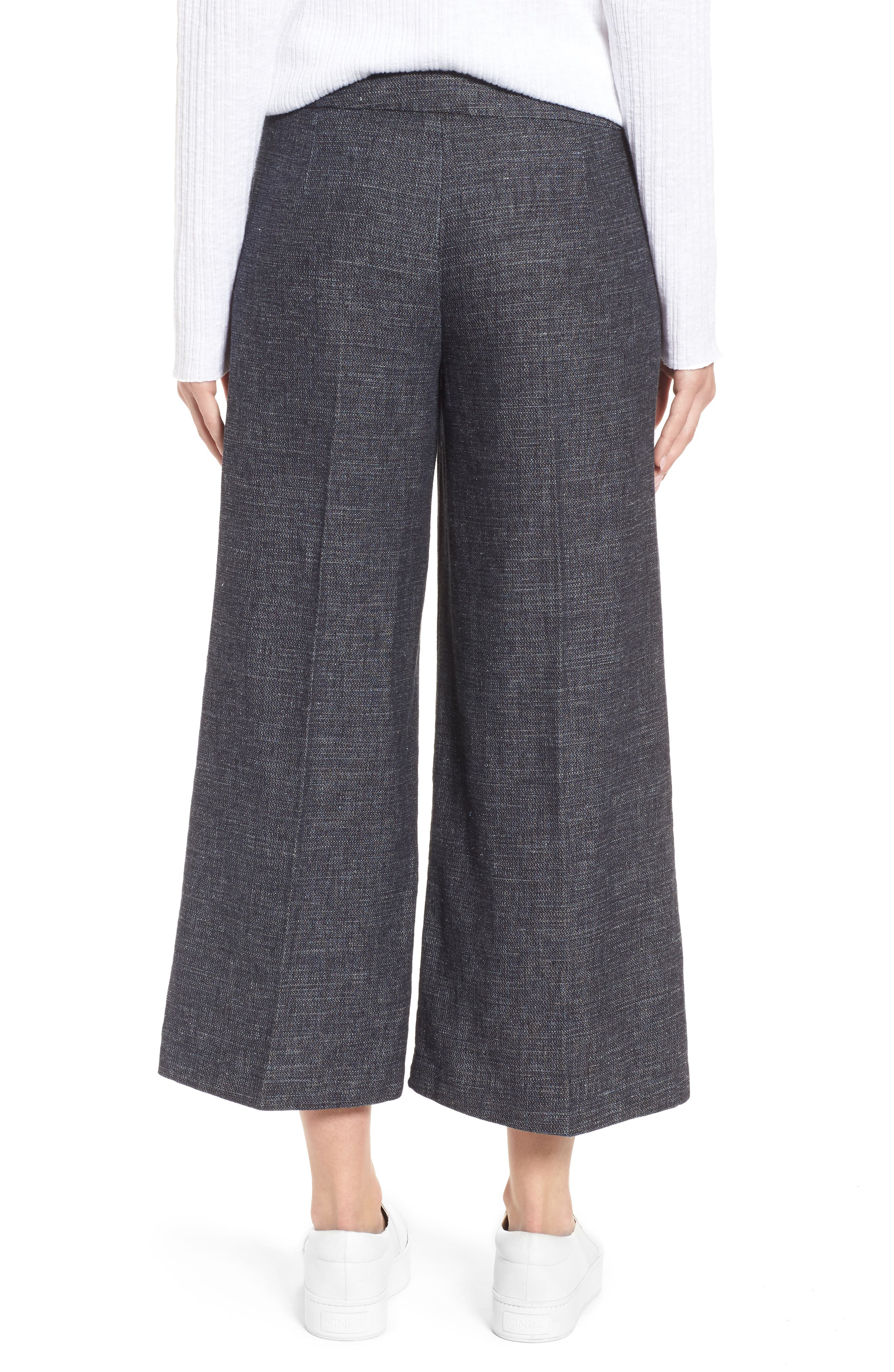 Crop Wide Leg Pants,                             Alternate thumbnail 2, color,                             Indigo