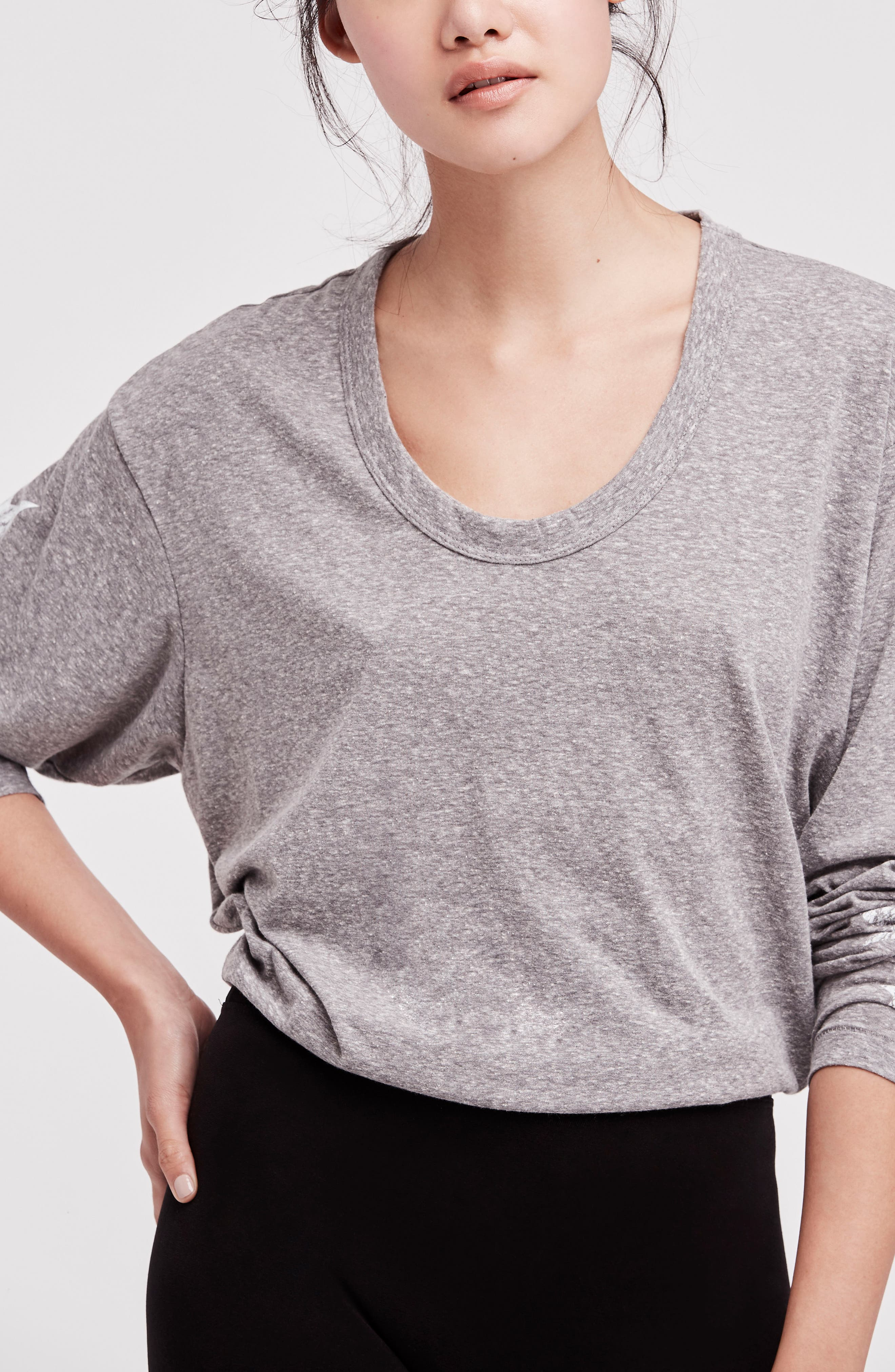 Free People Melrose Star Graphic Top,                             Alternate thumbnail 2, color,                             Grey