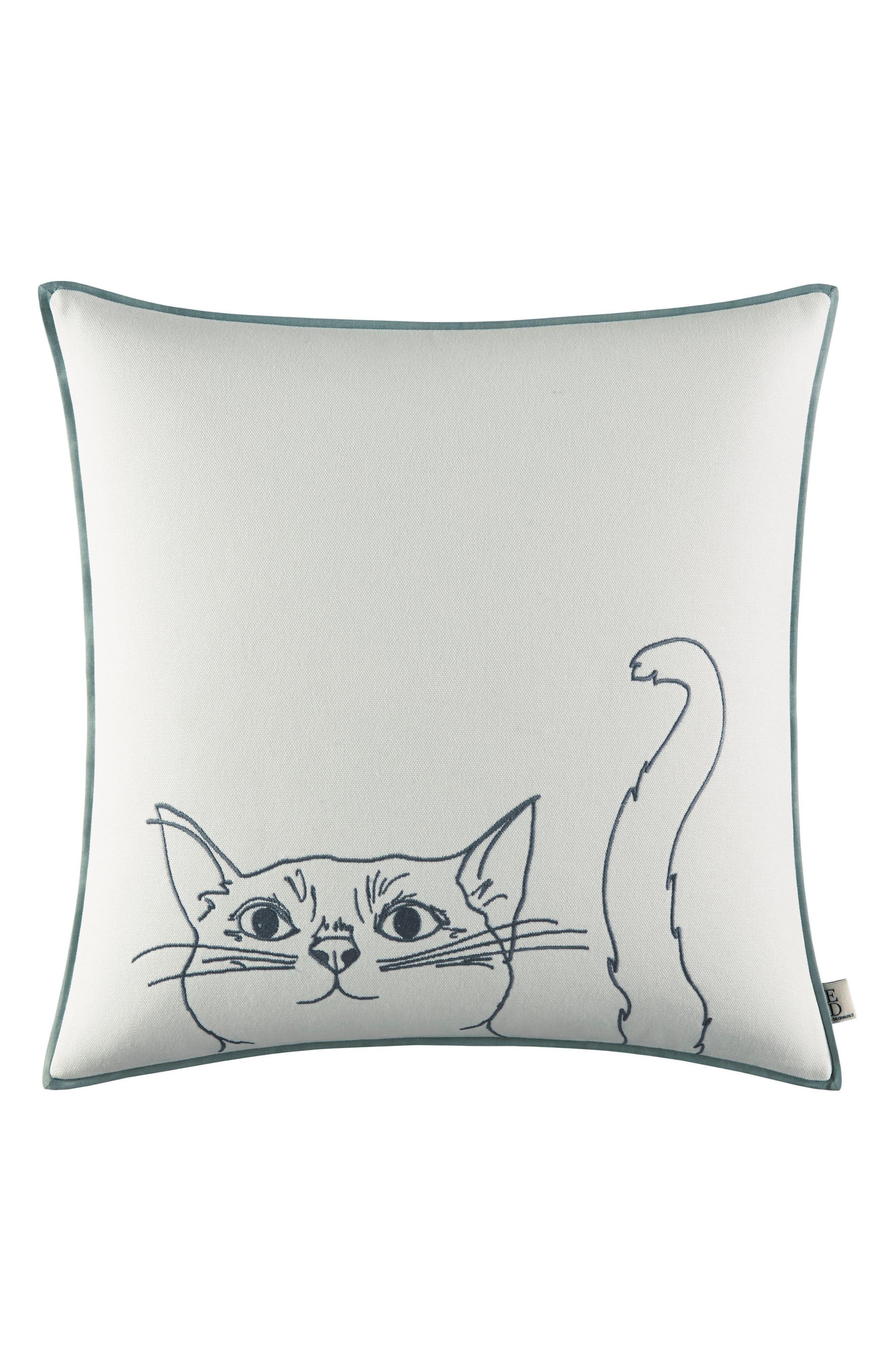 Cat Pillow,                             Main thumbnail 1, color,                             White