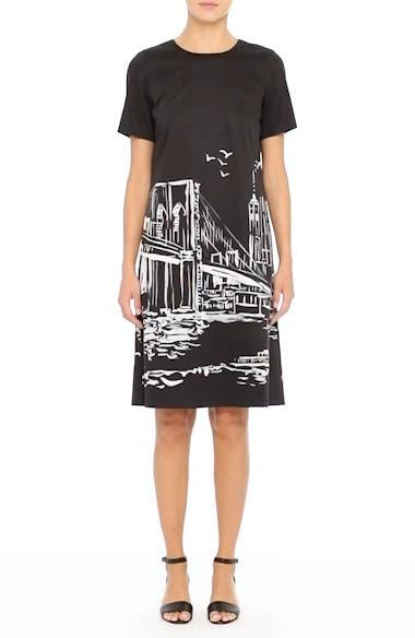Lafayette 148 New York Giuliana Print Shift Dress