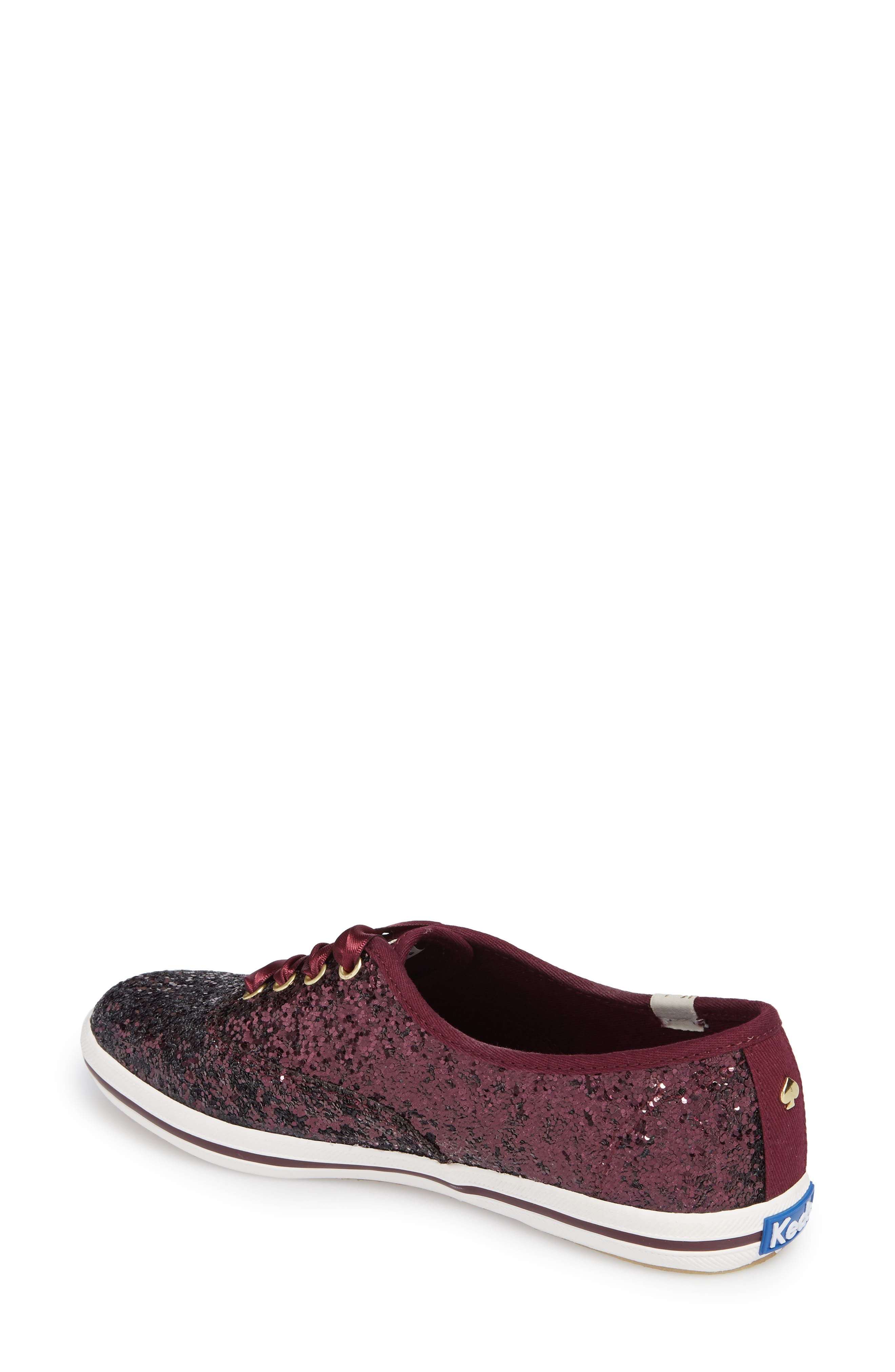 Alternate Image 2  - Keds® for kate spade new york glitter sneaker (Women)