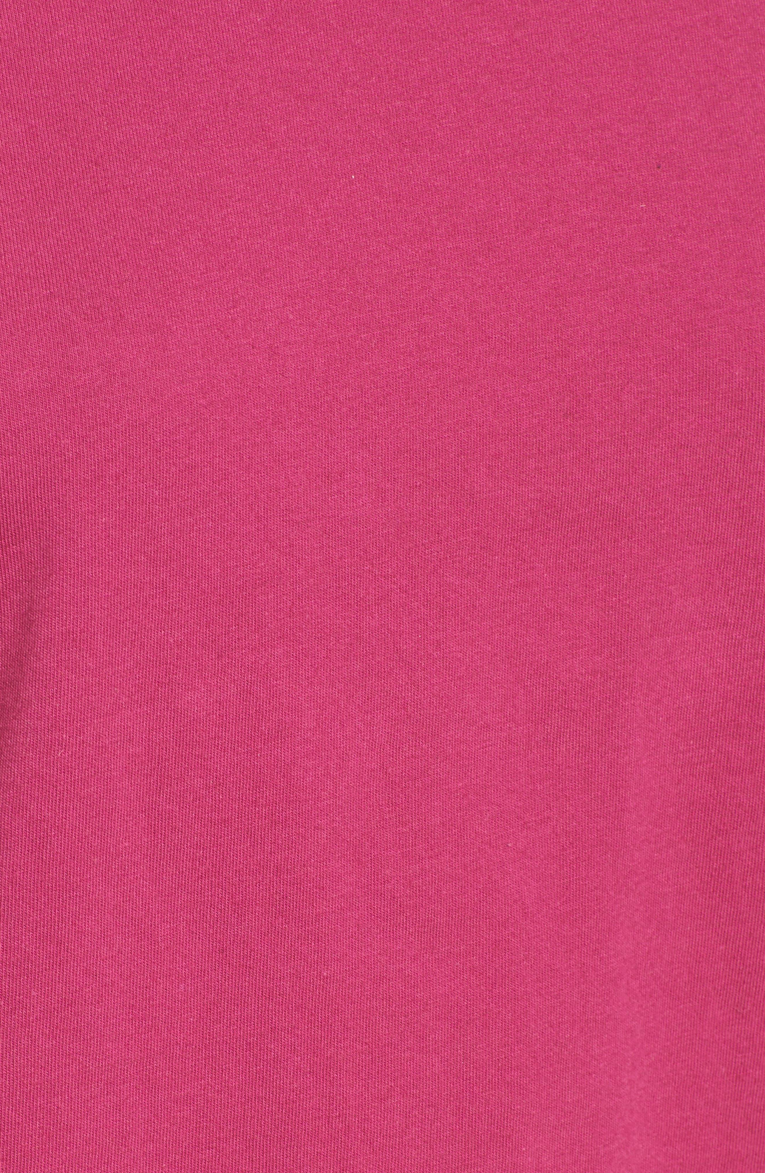 Bow Sleeve Poplin Cotton Top,                             Alternate thumbnail 5, color,                             Purple Boysen