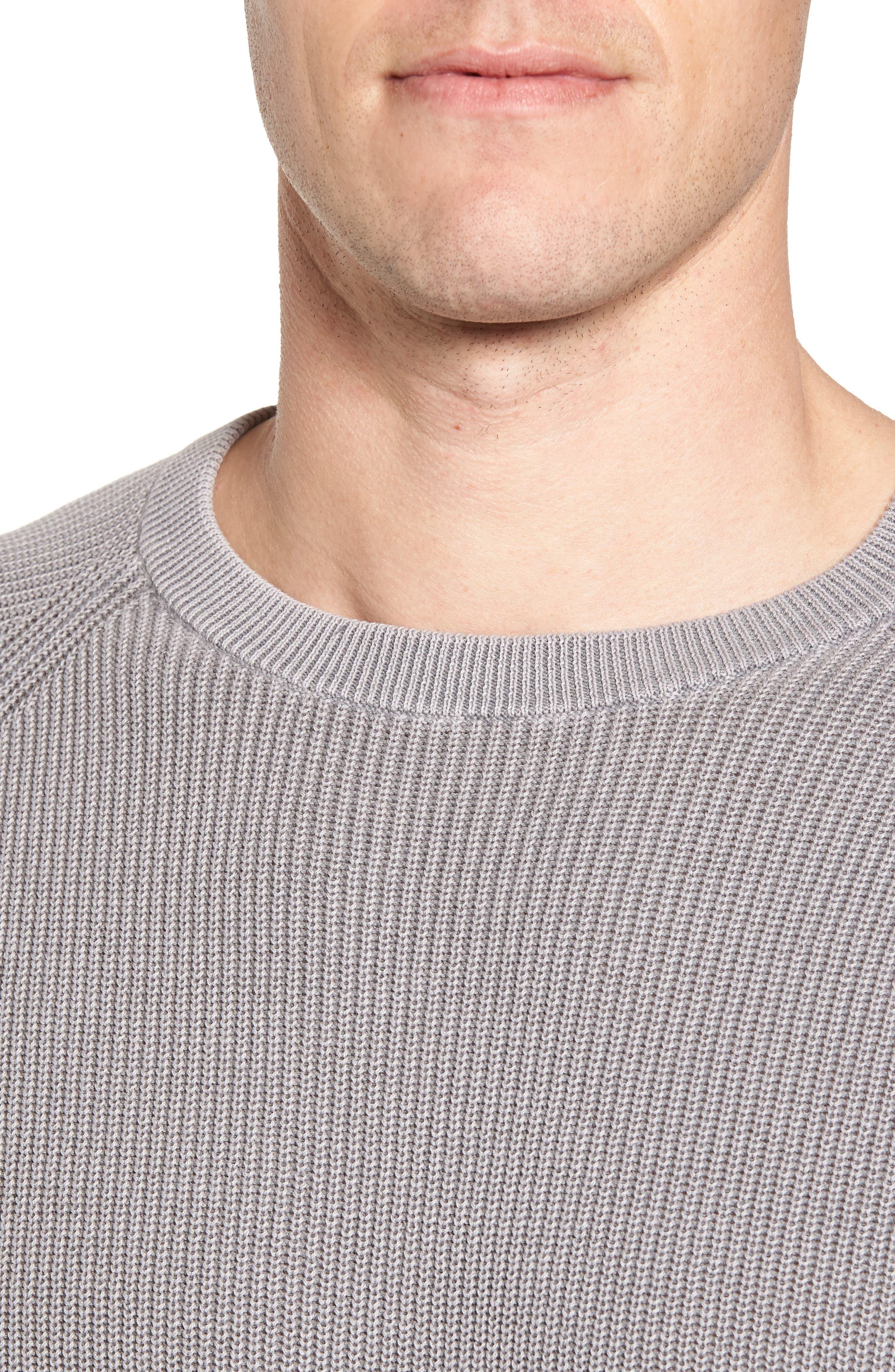 Crewneck Sweater,                             Alternate thumbnail 4, color,                             Grey Weather