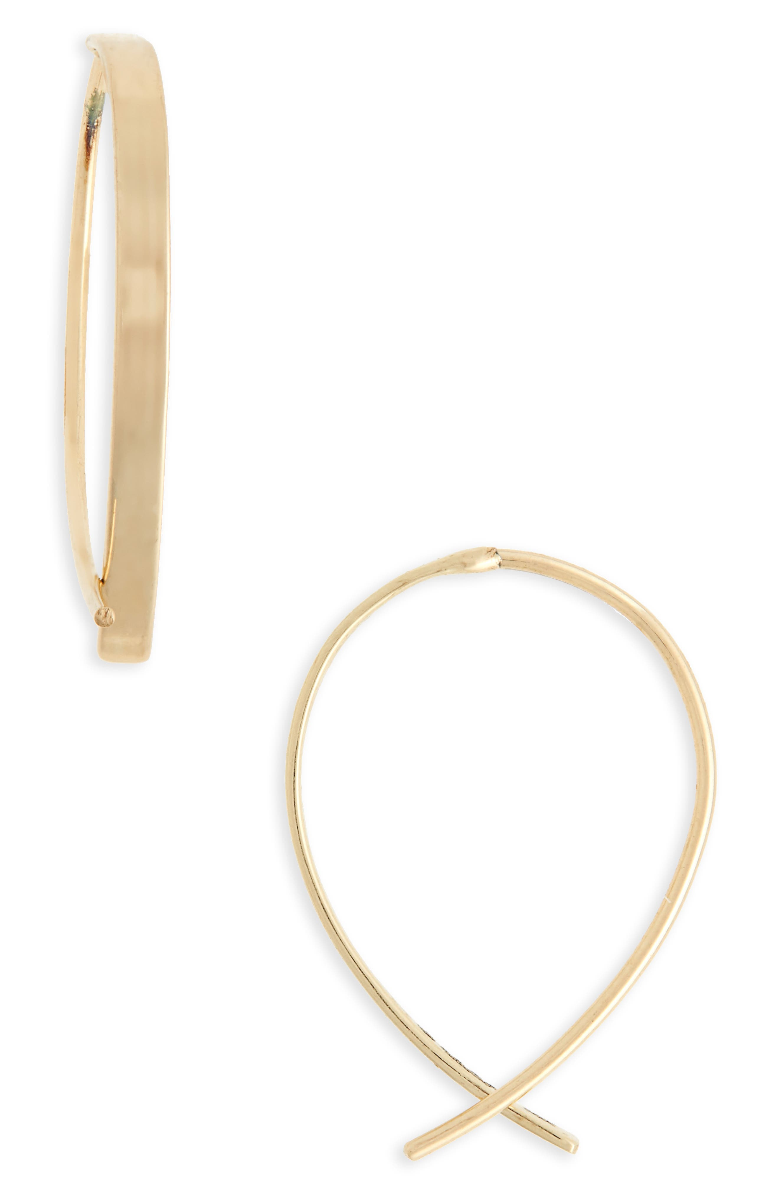 Alternate Image 1 Selected - Lana Girl by Lana Jewelry Upside Down Hoops (Girls)