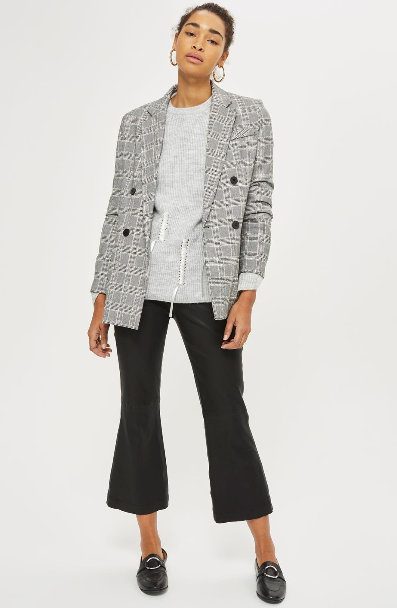 Ribbon Detail Sweater,                             Alternate thumbnail 2, color,                             Grey Marl