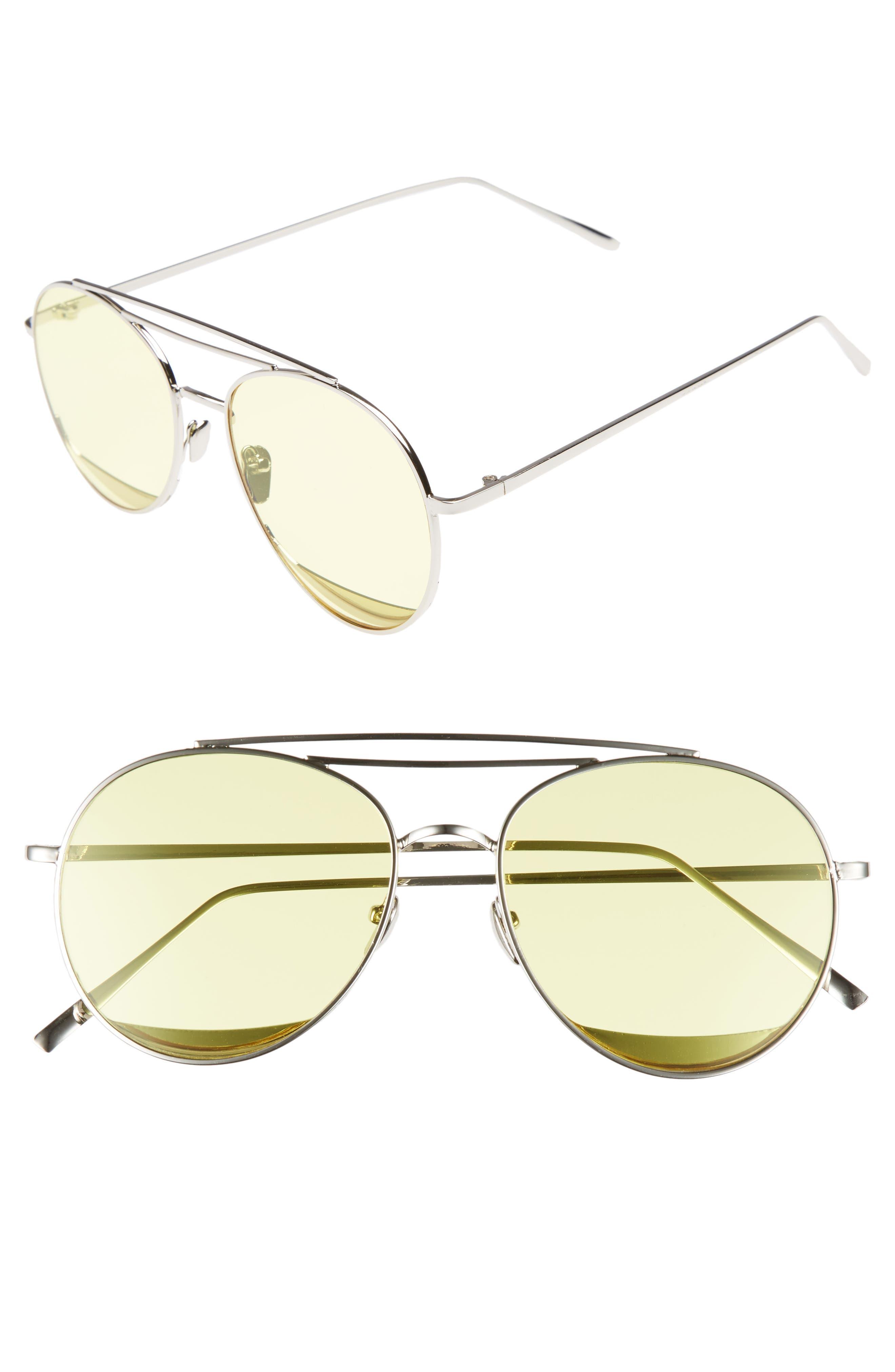 Shady Lady The Maddox 62mm Rimless Aviator Sunglasses