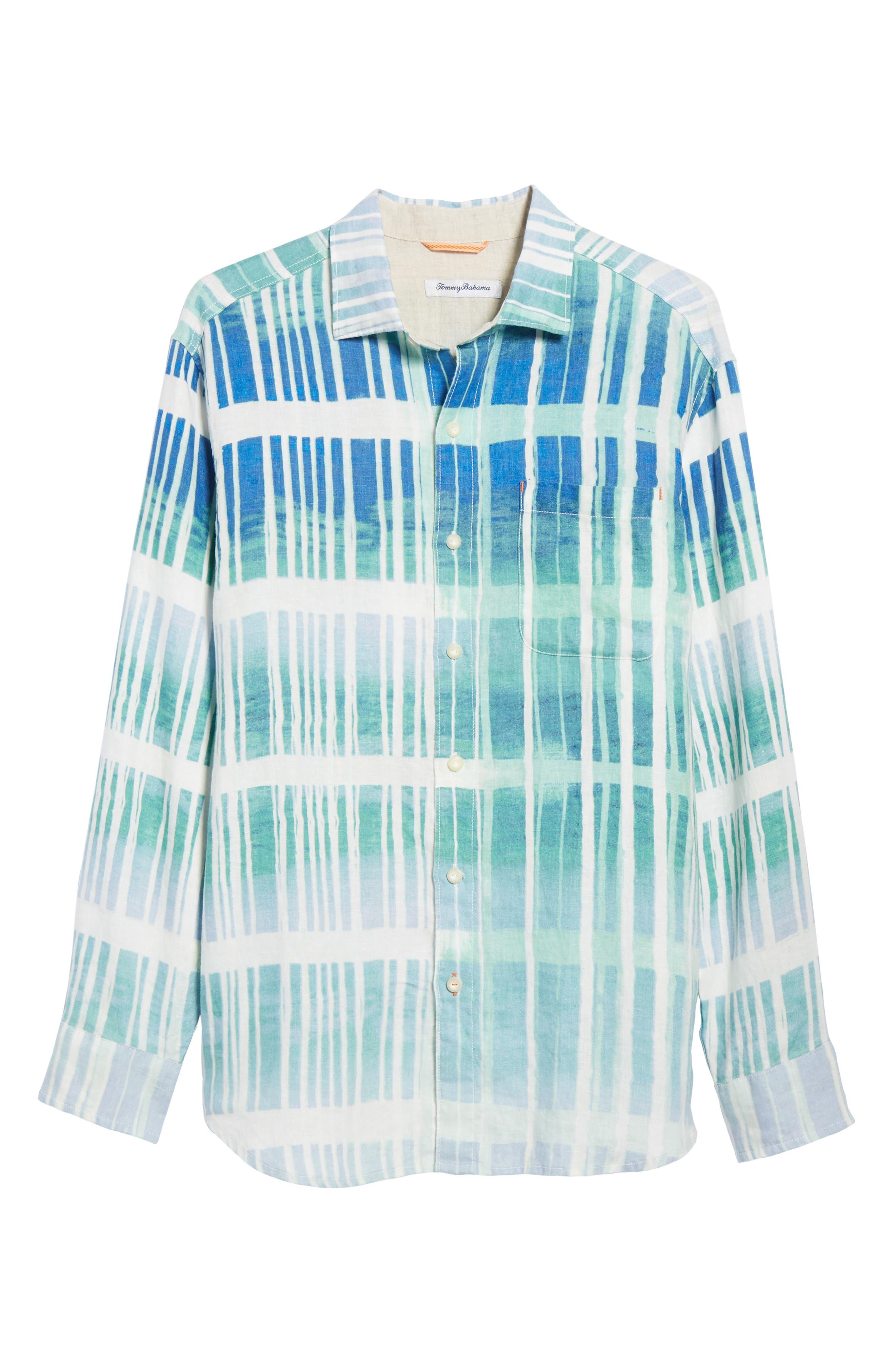 Okeechobee Ombré Breezer Sport Shirt,                             Alternate thumbnail 6, color,                             Santorini Blue