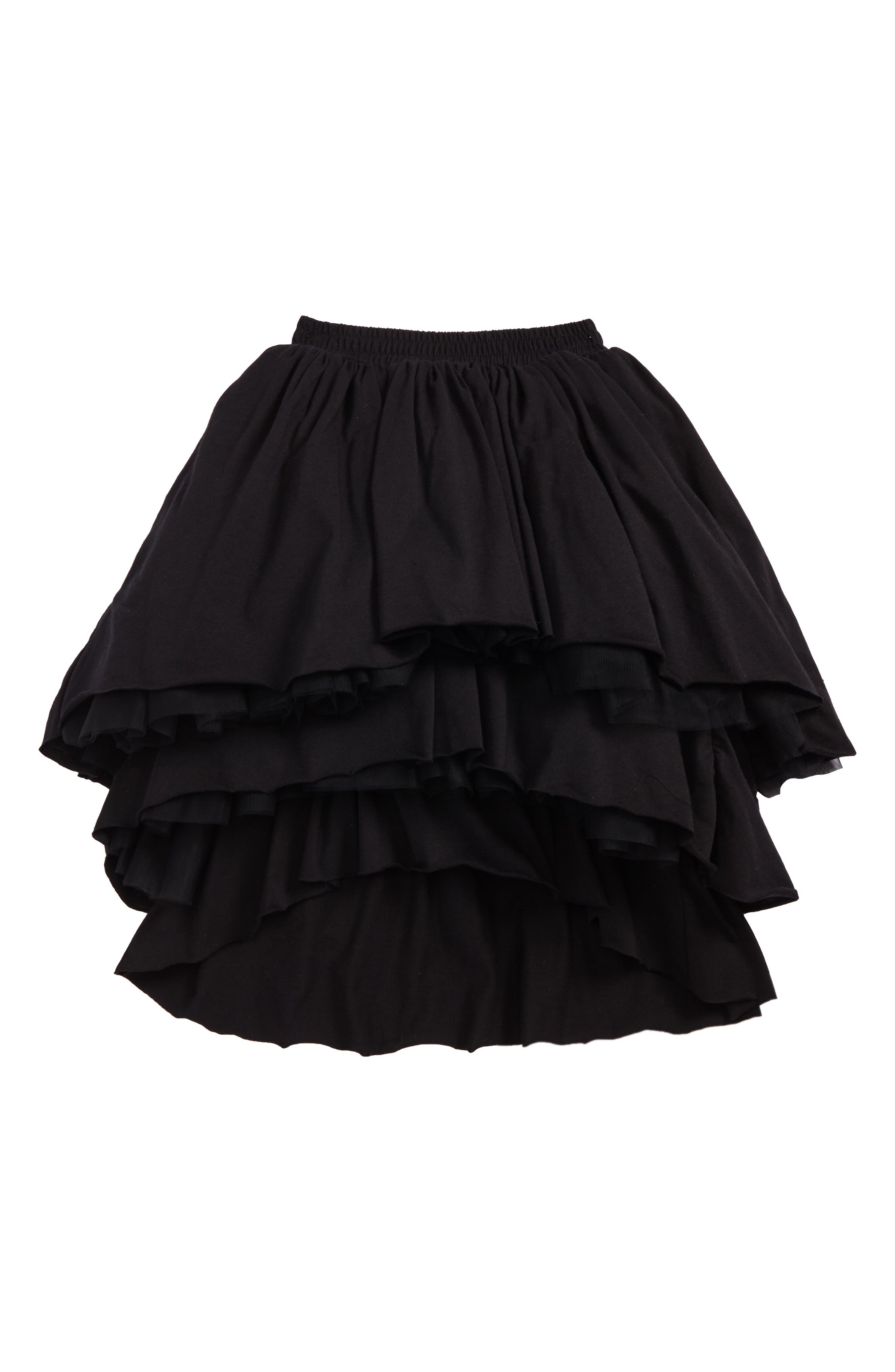 Layered Tulle Skirt,                         Main,                         color, Black