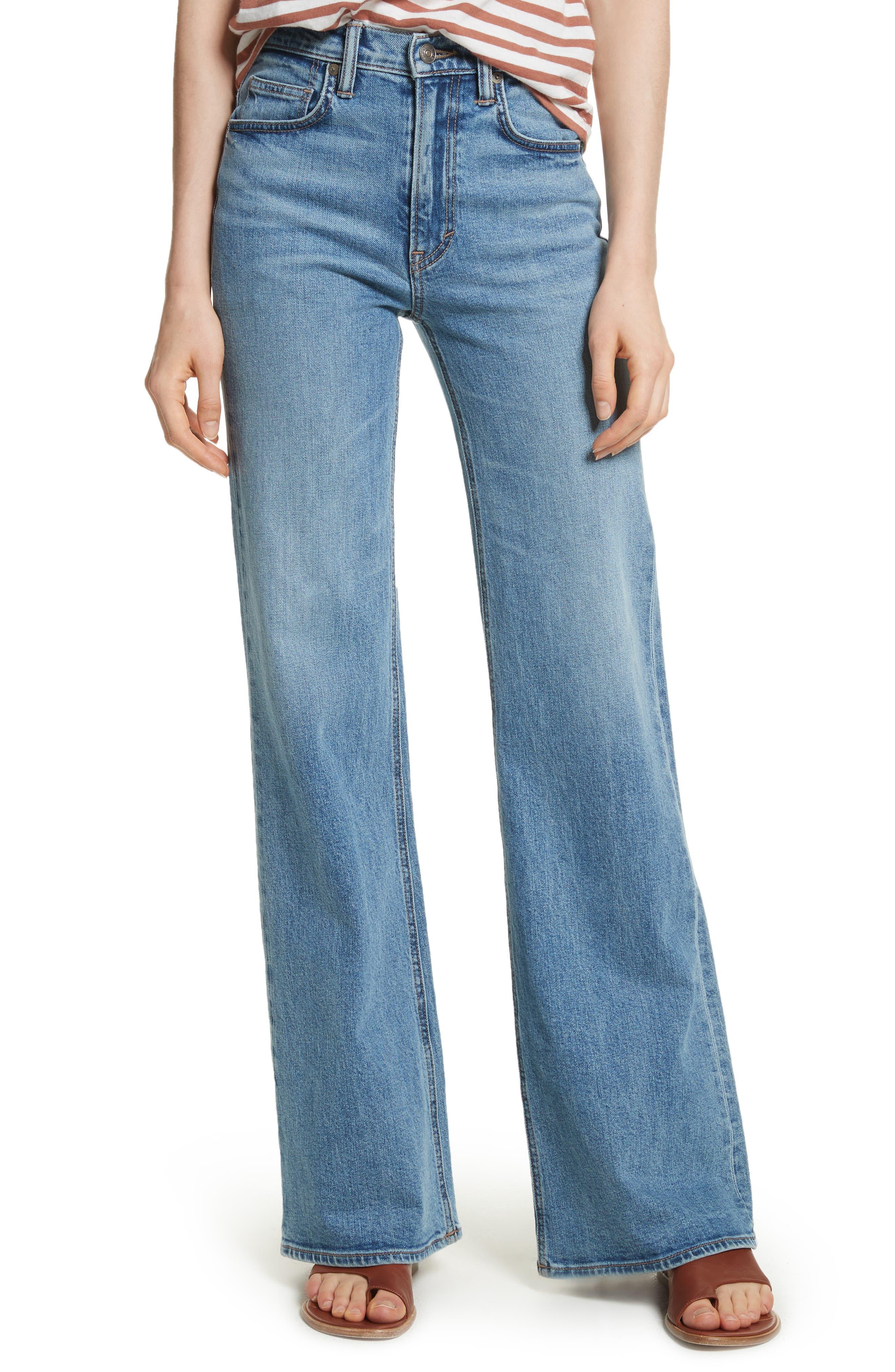 Vince Wide Flare Leg Jeans (Santa Fe)