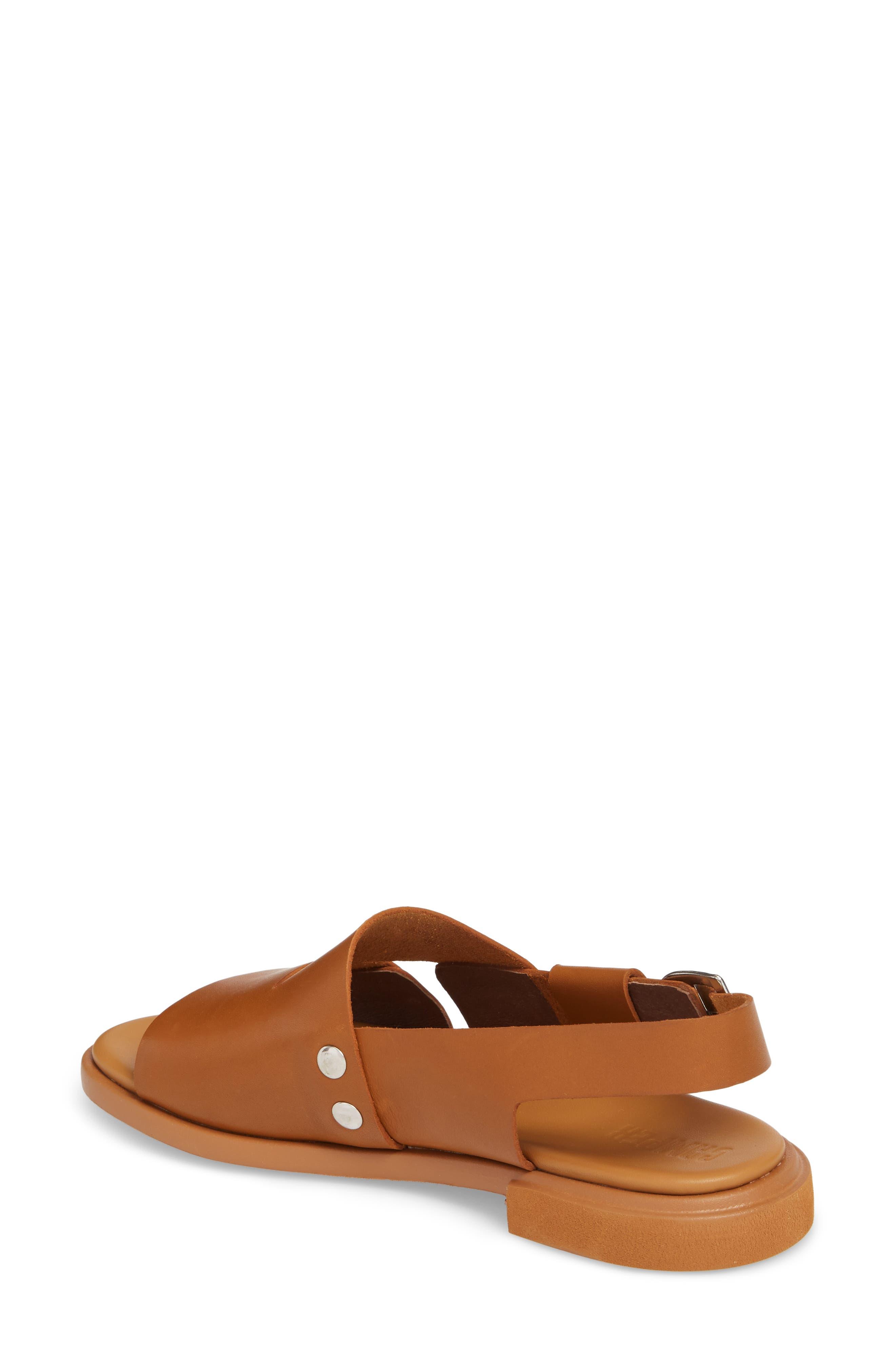 Edy Slingback Sandal,                             Alternate thumbnail 2, color,                             Rust/ Copper Leather