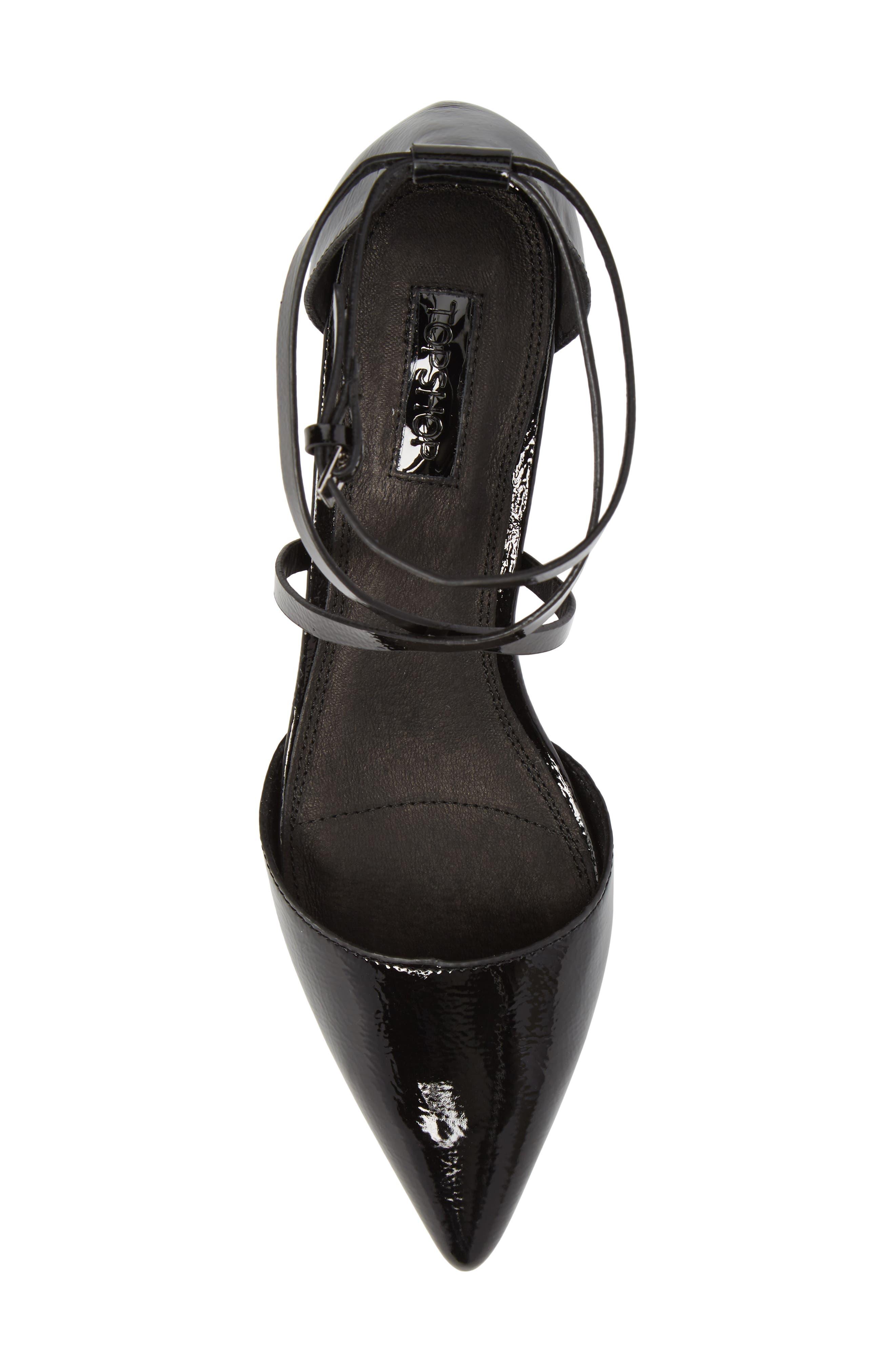 Alternate Image 5  - Topshop Jolly Flared Heel d'Orsay Pump (Women)